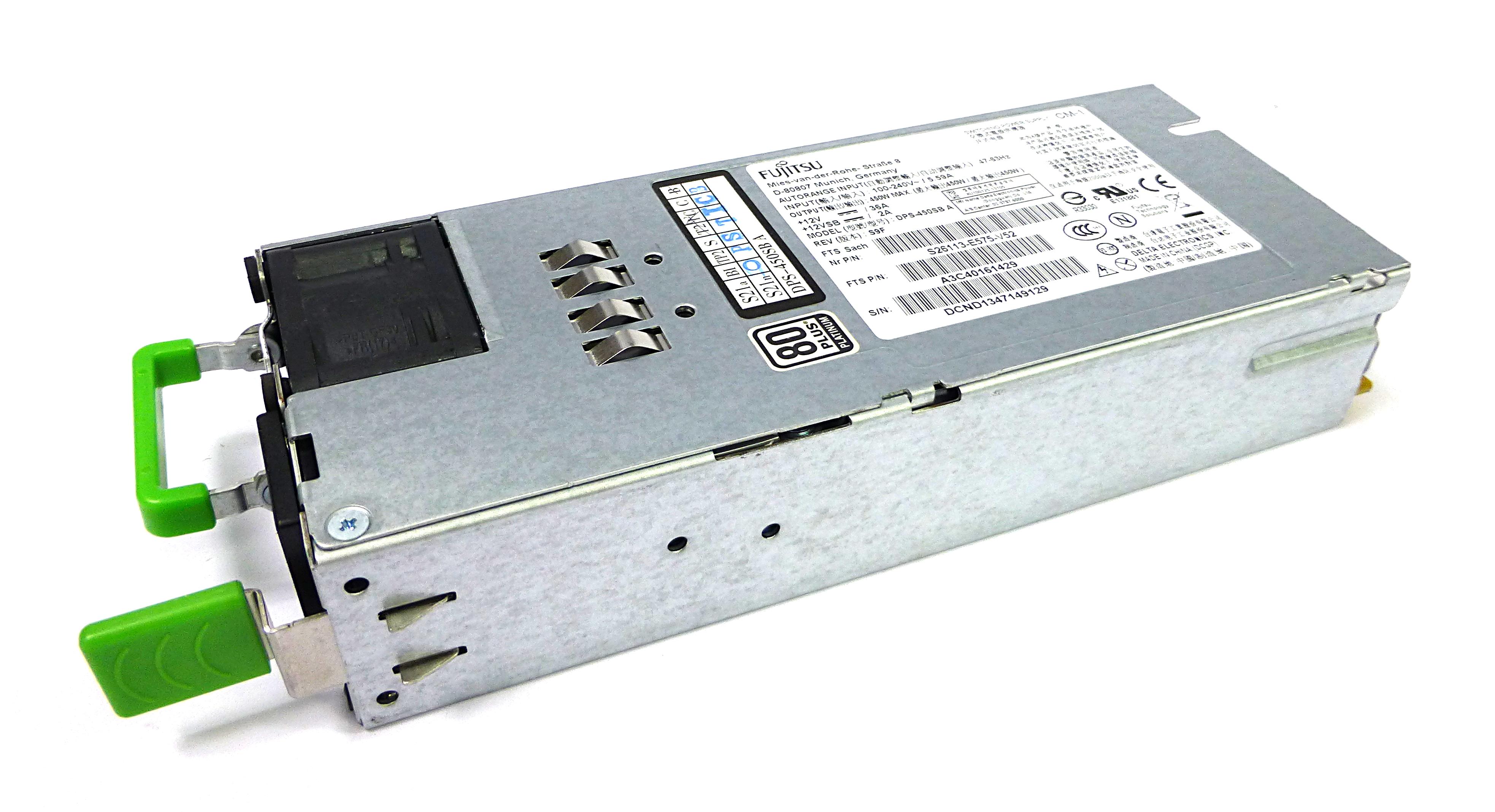 Fujitsu A3C40161429 450W Power Supply for Primergy RX100 S7 - S26113-E575-V52
