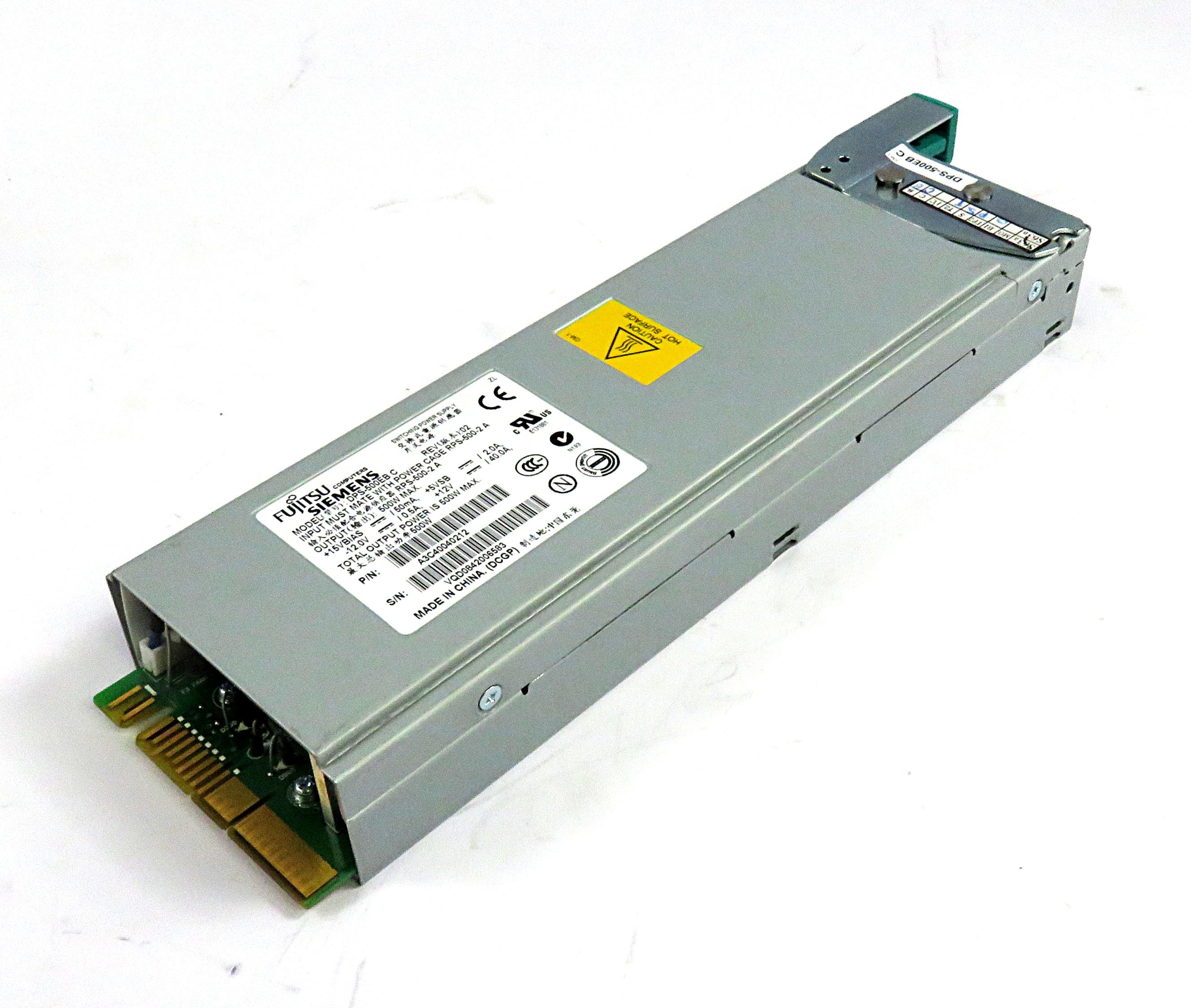 A3C40040212 Fujitsu 500W Power Supply Model DPS-500EB C f/ Primergy RX300
