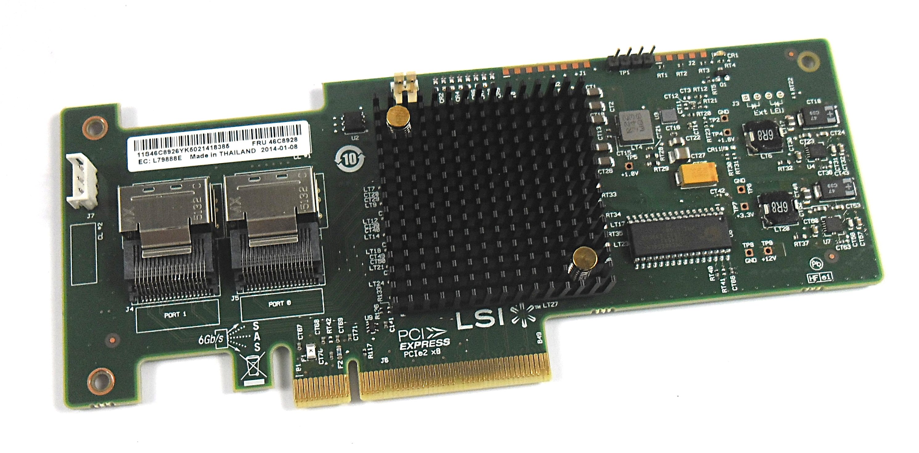 LSI 46C8928 SAS9223-8i Controller / without back plate