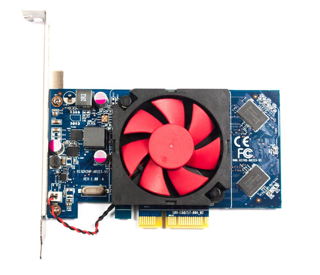 HP 806650-001 R15DV2HP-ARIES-V1 Rev:1.00 2GB DDR3 PCIe Headless Graphics Card