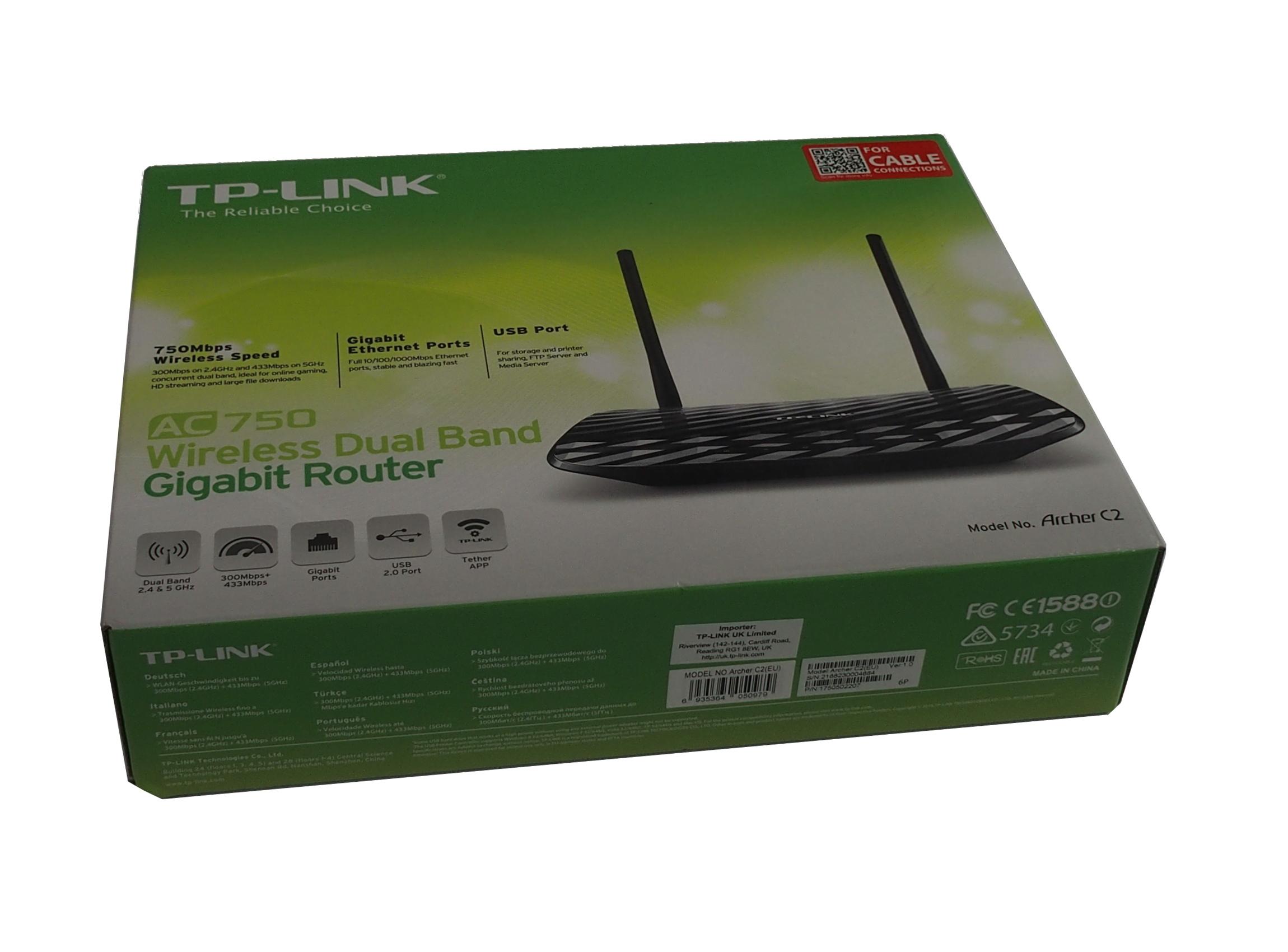 TP-Link Archer C2-AC750 Draadloze Dual-Band Gigabit Router ...