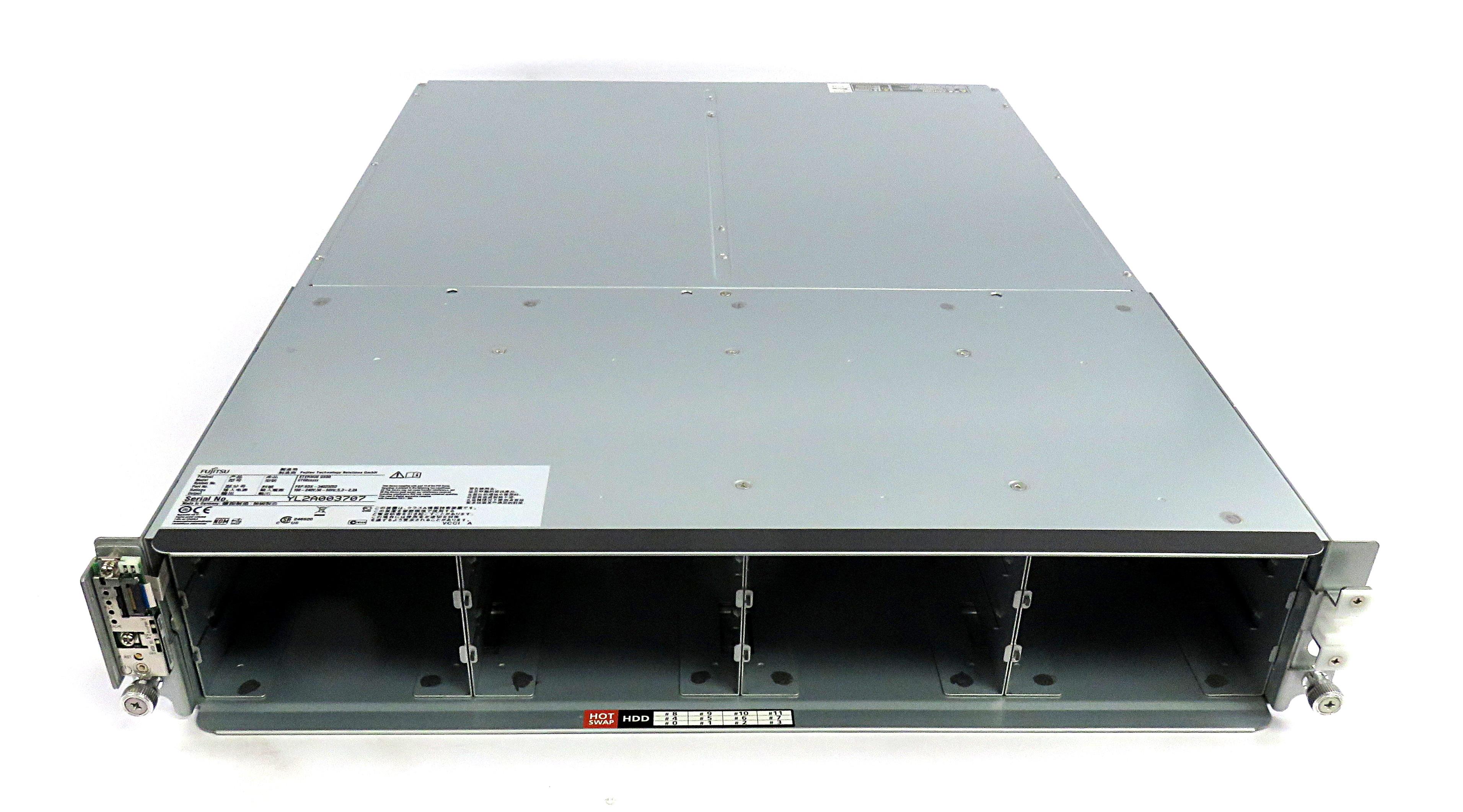 "Fujitsu SDX-34023253 Eternus DX80 12x 3.5"" SAS/SATA Disk Enclosure w/ Dual PSUs"