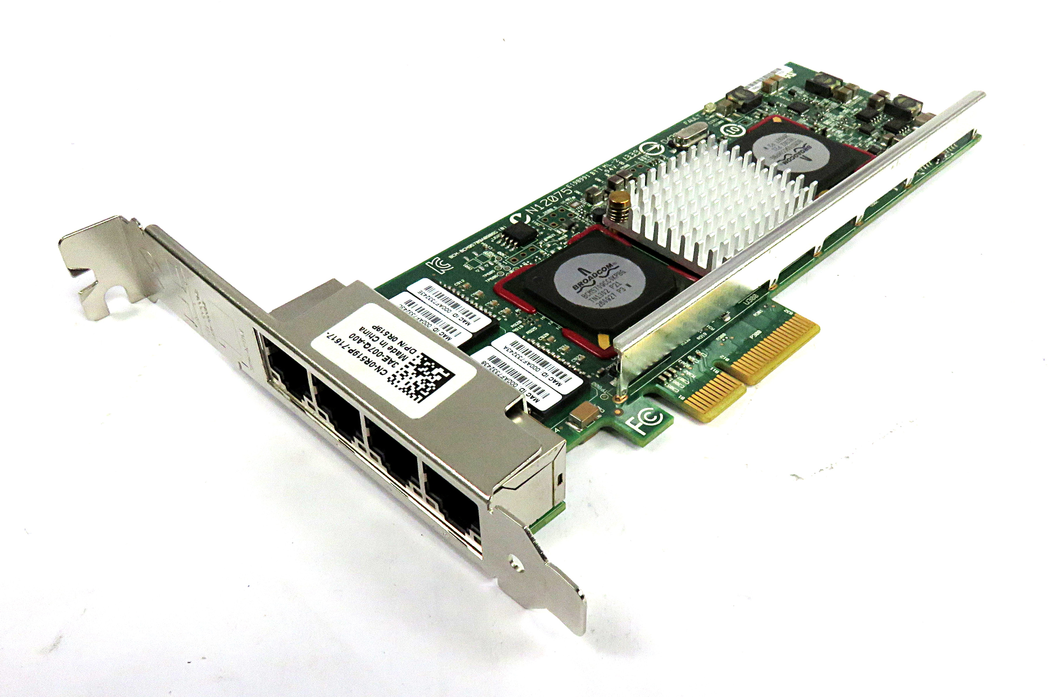 Dell R519P 4-Port PCIe x4 Gigabit Ethernet NIC - Broadcom BCM95709A0906G