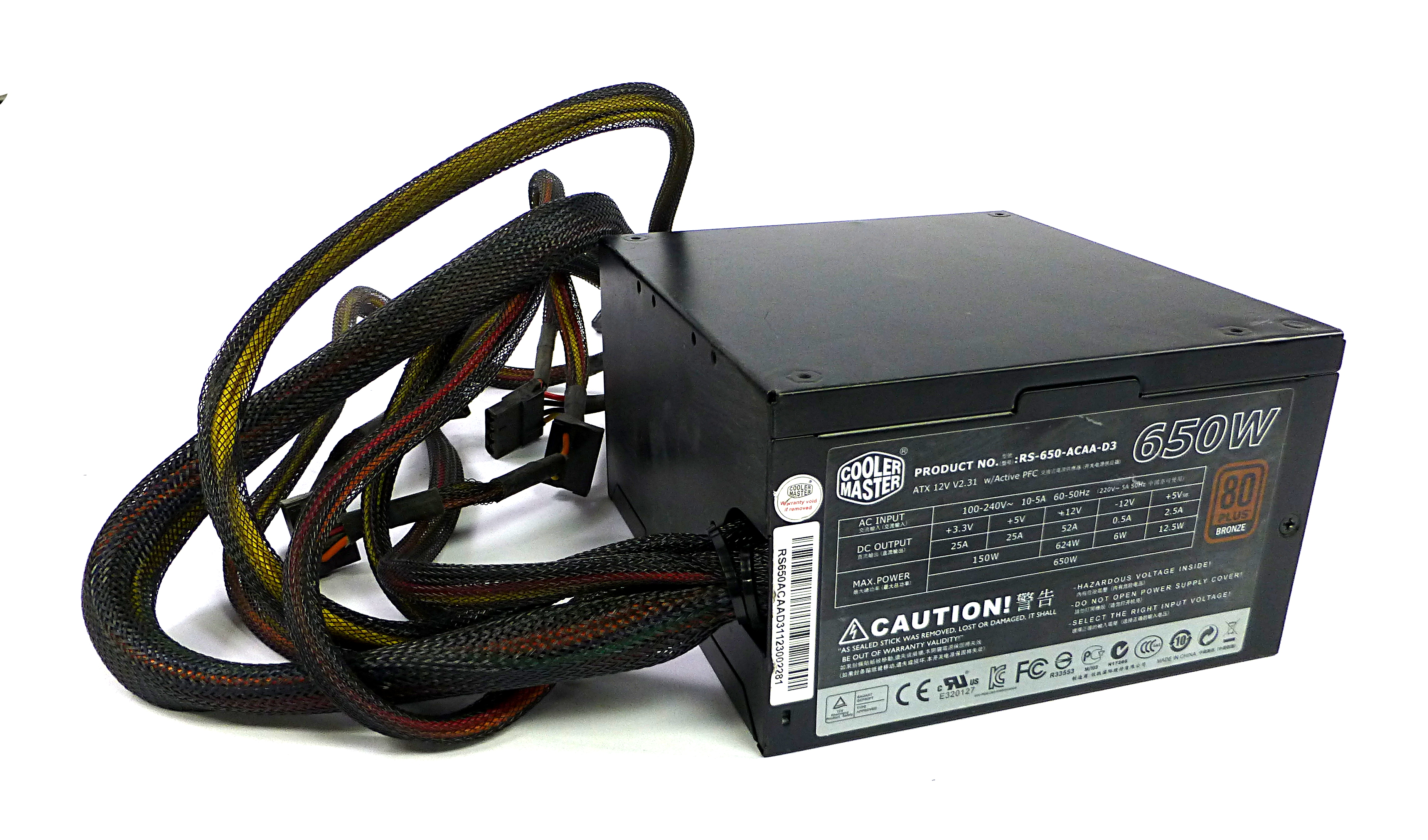 Cooler Master RS-650-ACAA-D3 650W 20/24 Pin Power Supply