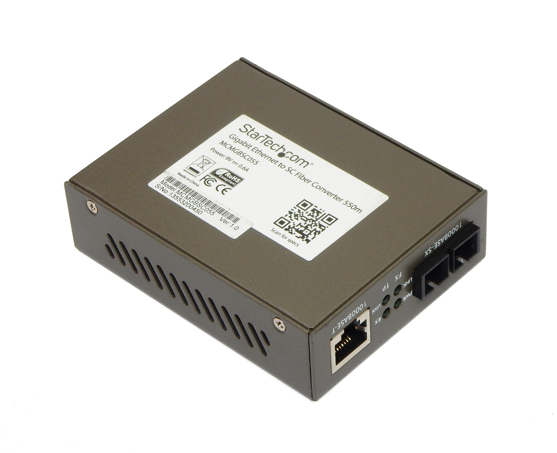 StarTech MCMGBSC055 Gigabit Multi-Mode Fiber Converter SC 550m