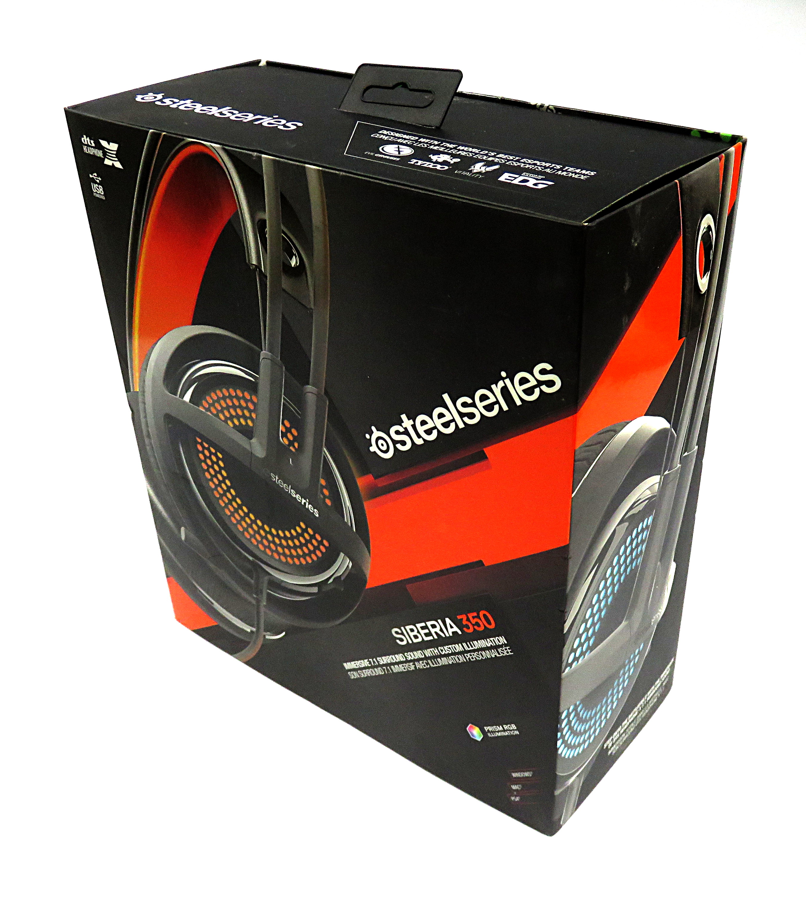 64e6a5a74c4 Steelseries Siberia 350 Wired USB Gaming Headset 51202 w/ RGB Lighting,  Black. Out of Stock