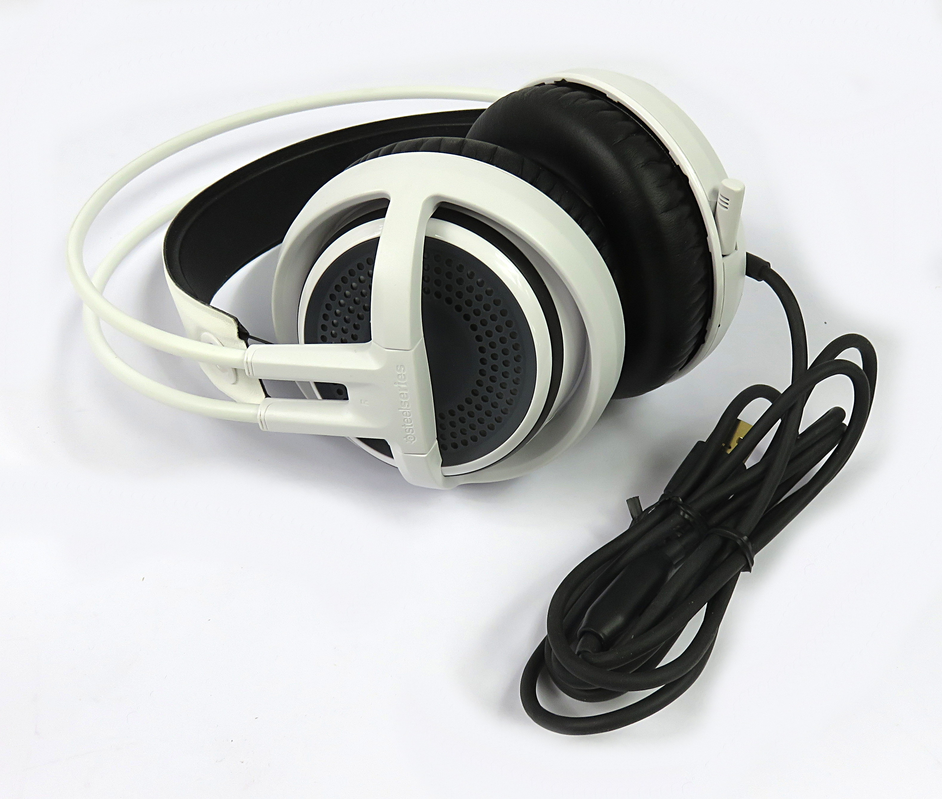 steelseries siberia 350 wired usb gaming headset 51204 w rgb lighting white headphones. Black Bedroom Furniture Sets. Home Design Ideas