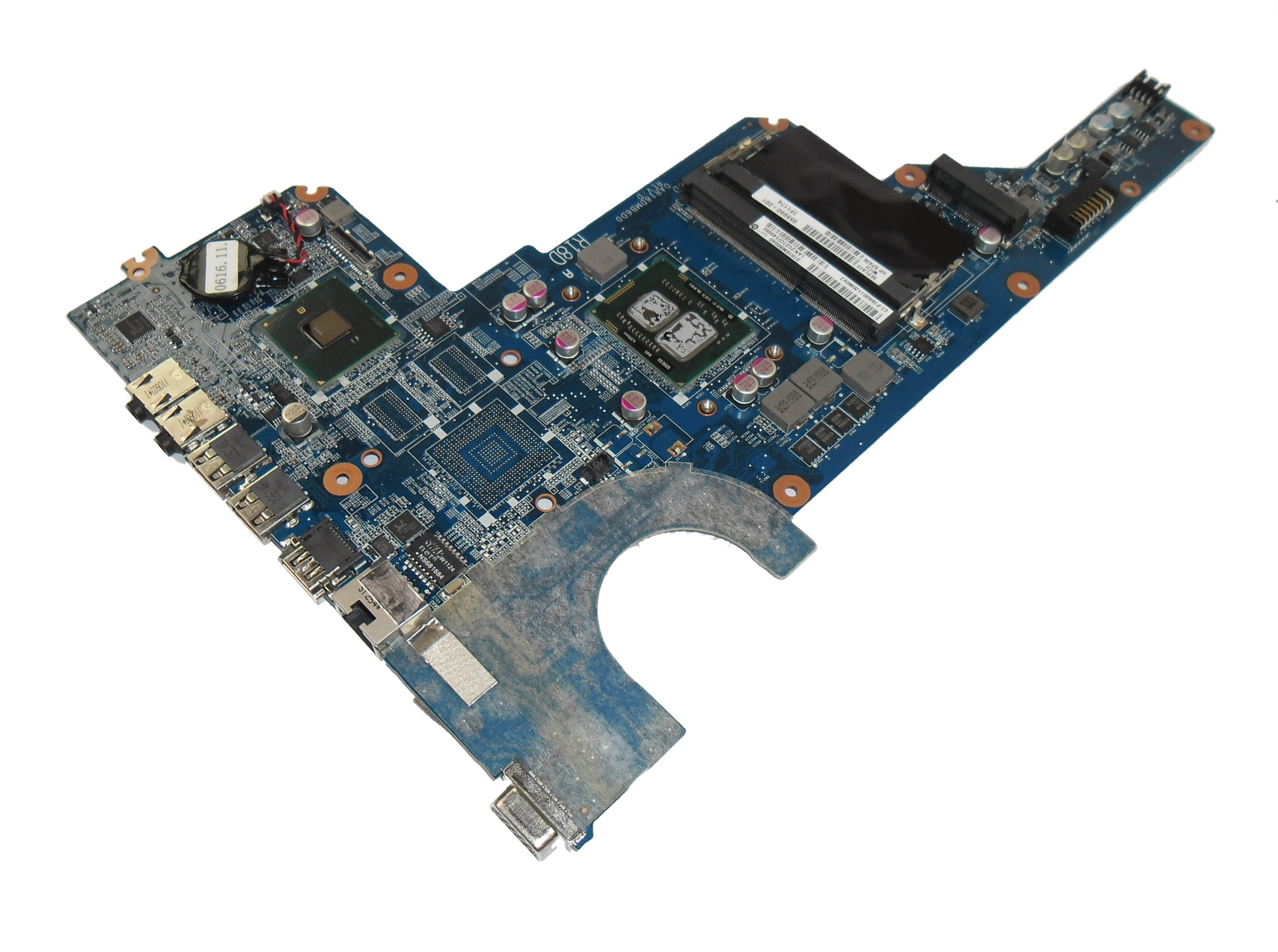 655990-001 HP Pavilion G6 Motherboard with Intel i3-370M (SLBTX) CPU