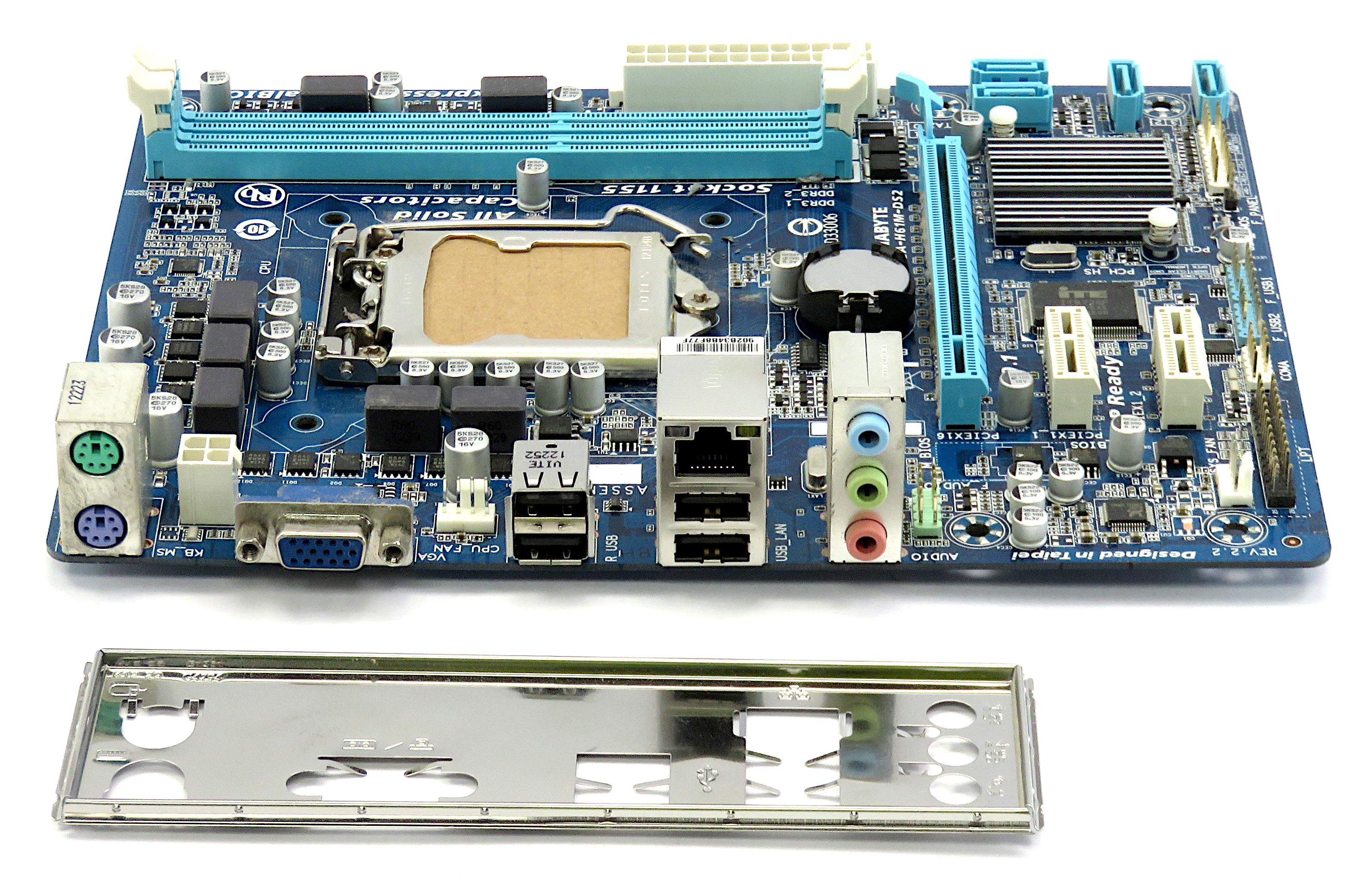 Gigabyte GA-H61M-DS2 Rev:2.2 Intel Socket LGA 1155 Micro-ATX Motherboard