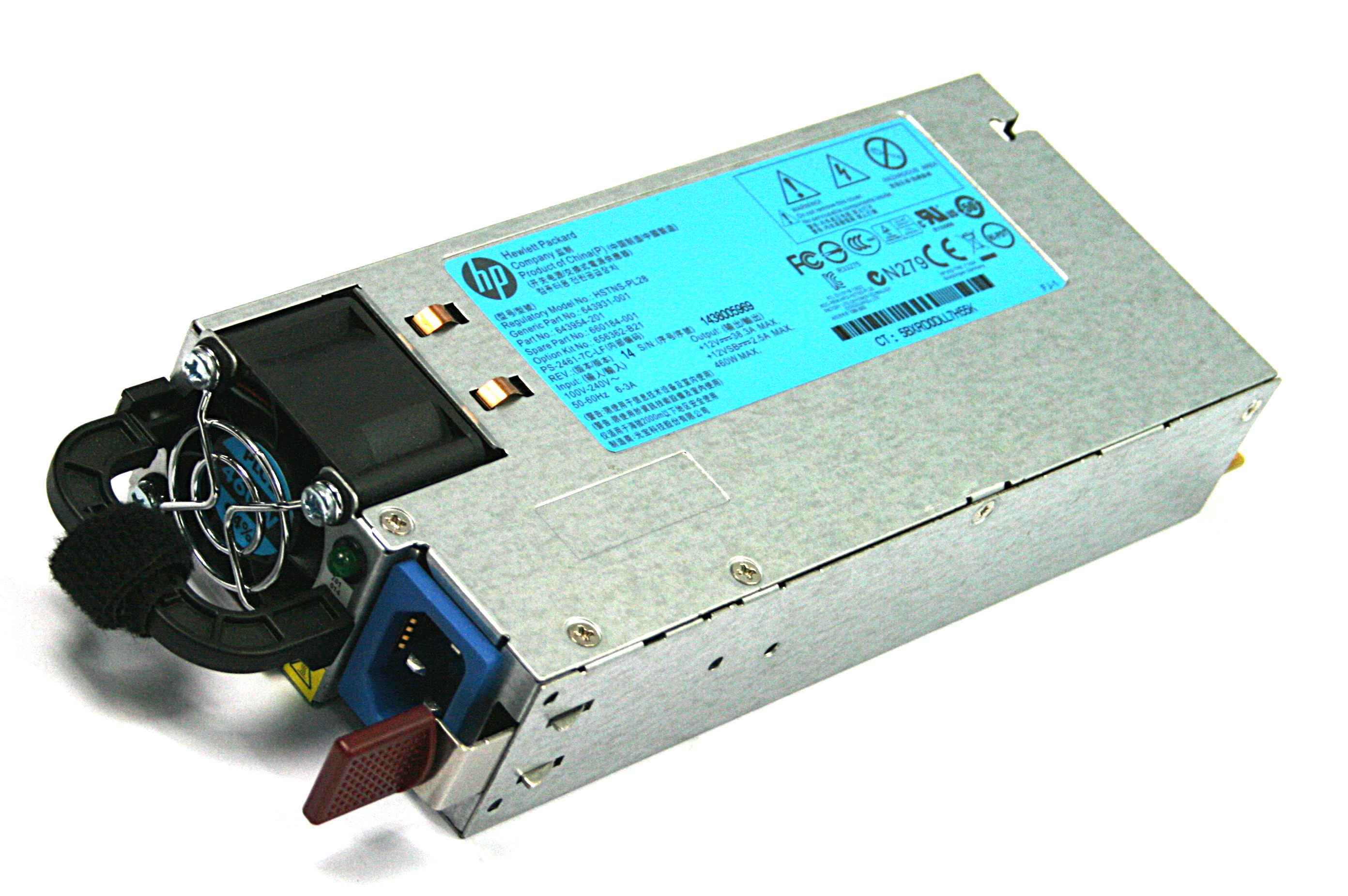 HP 660184-001 460W Switching Power Supply For Proliant DL380p G8 Server