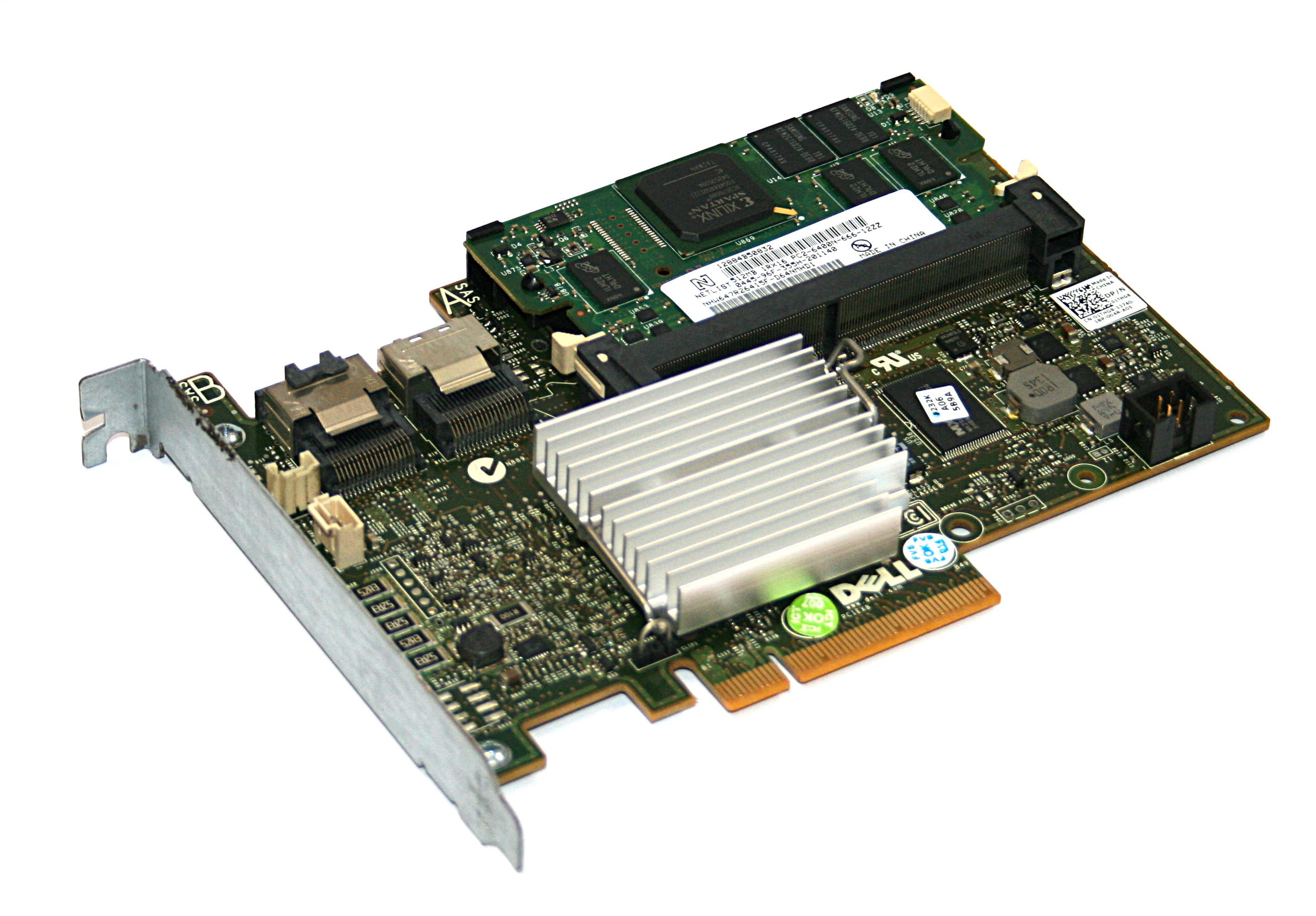 Dell 1THG8 PowerEdge R310  6Gb/s SAS RAID Controller Card + 512MB Cache Memory