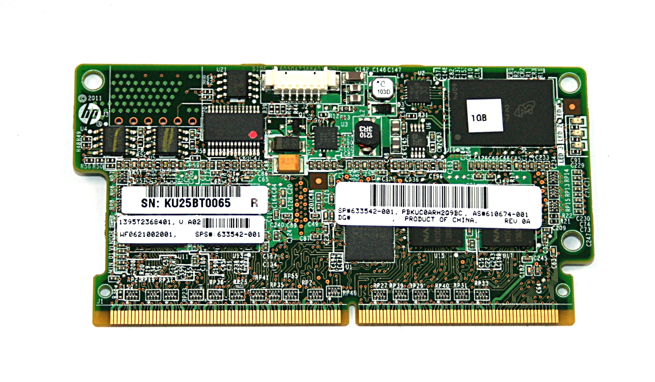 HP 633542-001 1GB Smart Array Flash-Backed Write Cache