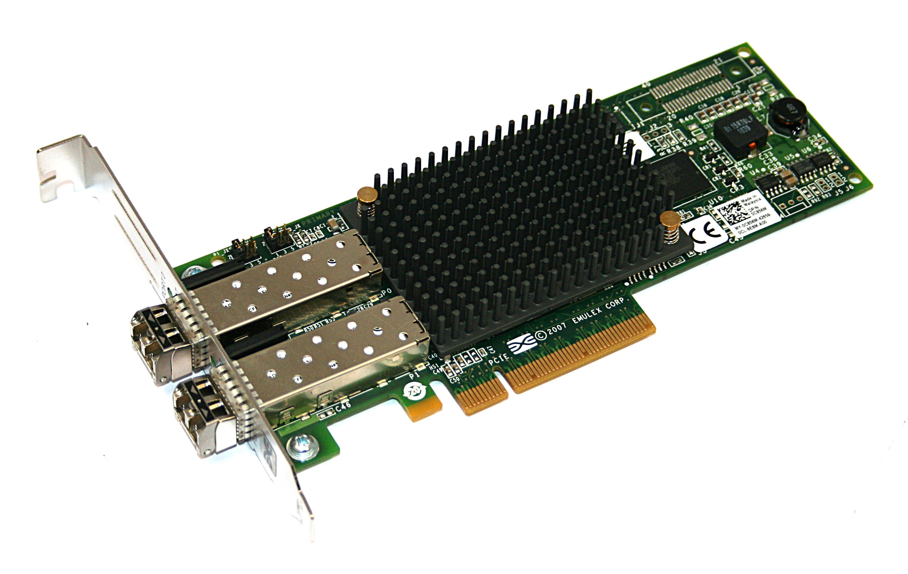 Dell C856M Emulex LPE12002 Dual Port 8Gb PCIe HBA Fibre Channel