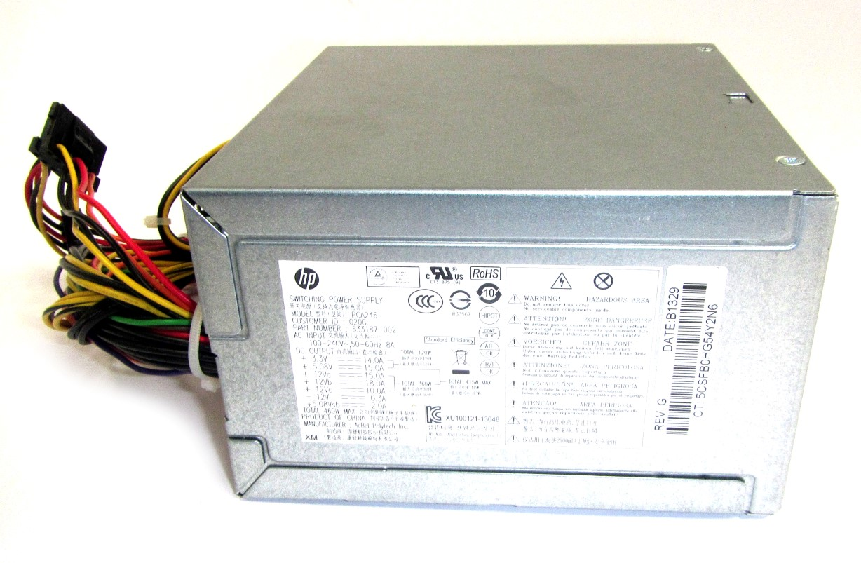 HP 633187-002 24Pin 460W ATX PSU Power Supply - AcBel PCA246