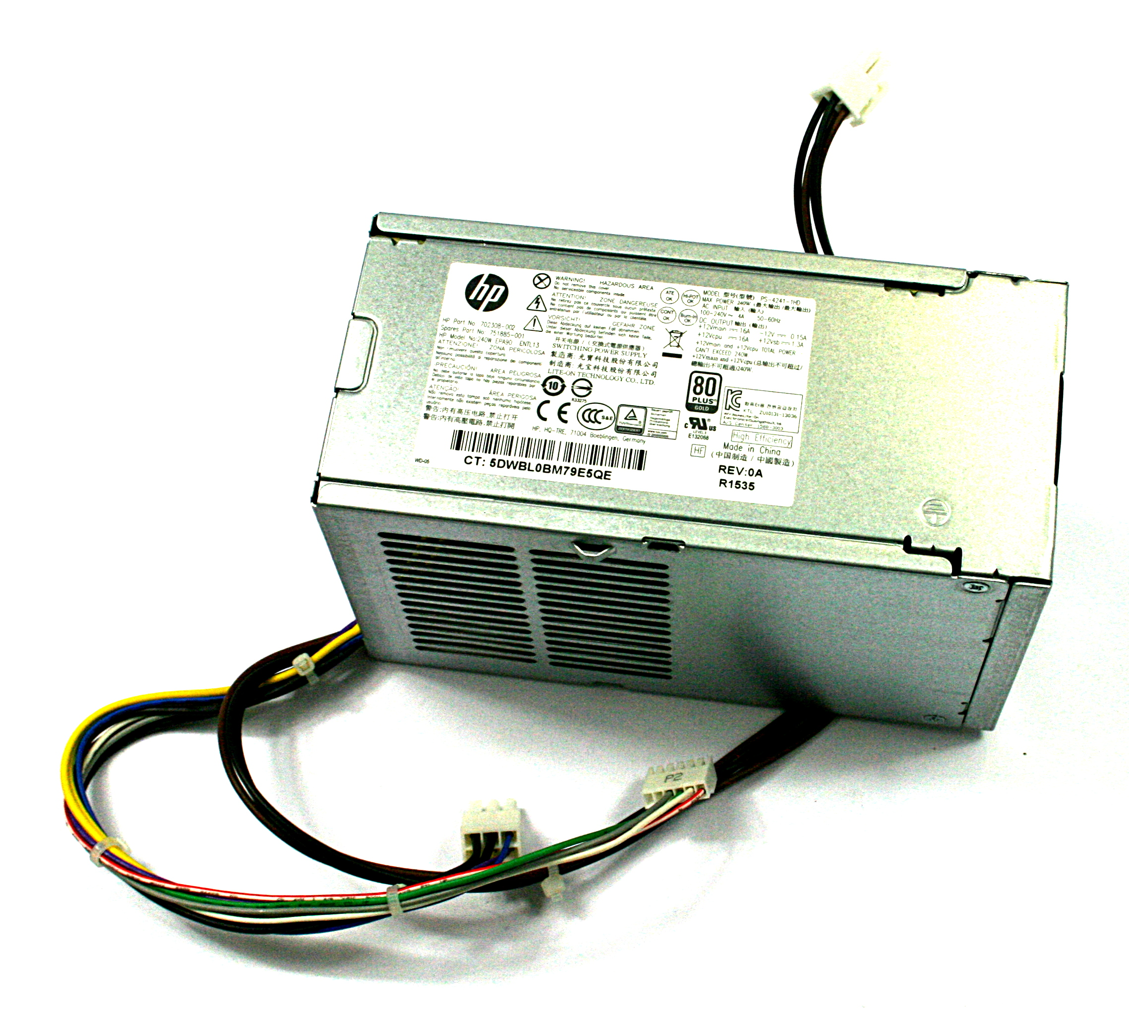 HP 702456-001 240W SFF 6-Pin Power Supply 702308-001 - LiteOn PS-4241-1HB