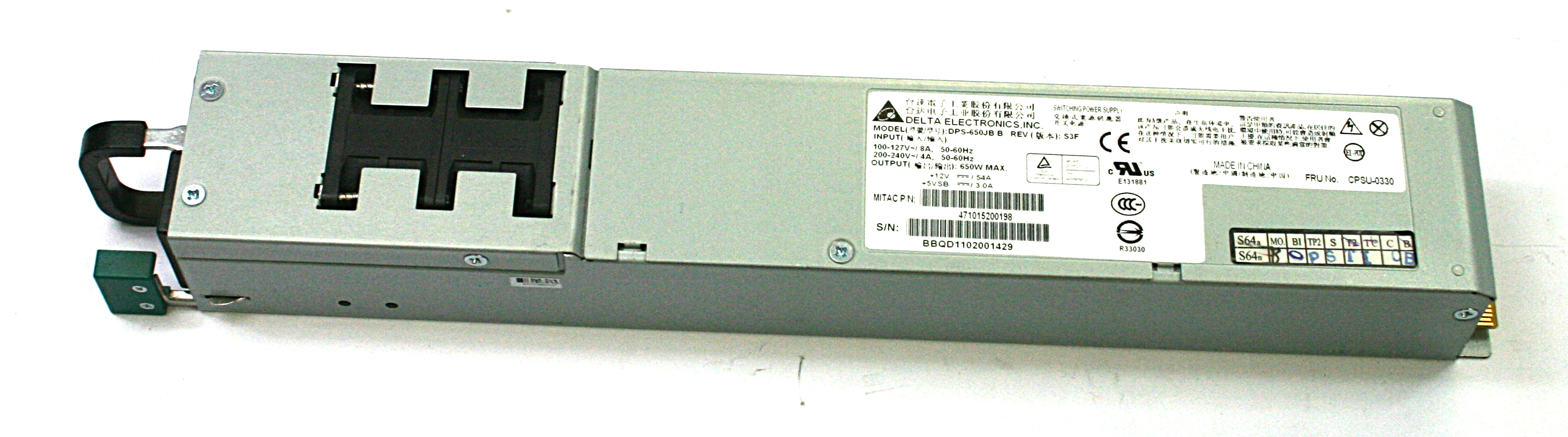 Delta Electronics DPS-650JB B Rev:S3F 650W Power Supply  PSU