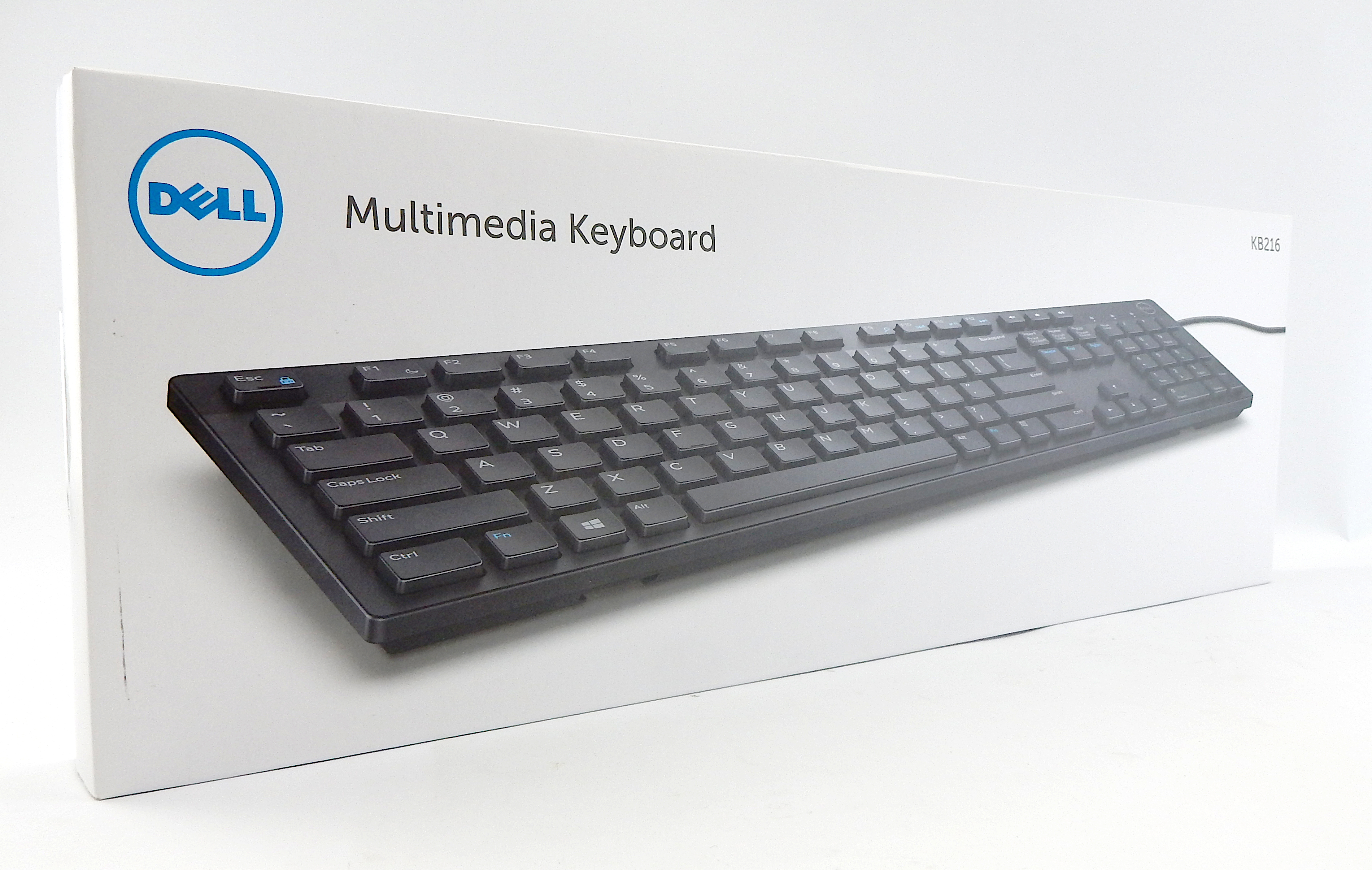 Dell JD2VN / RX6RM USB Wired QWERTY Keyboard, Black, UK Layout - KB216-BK-UK