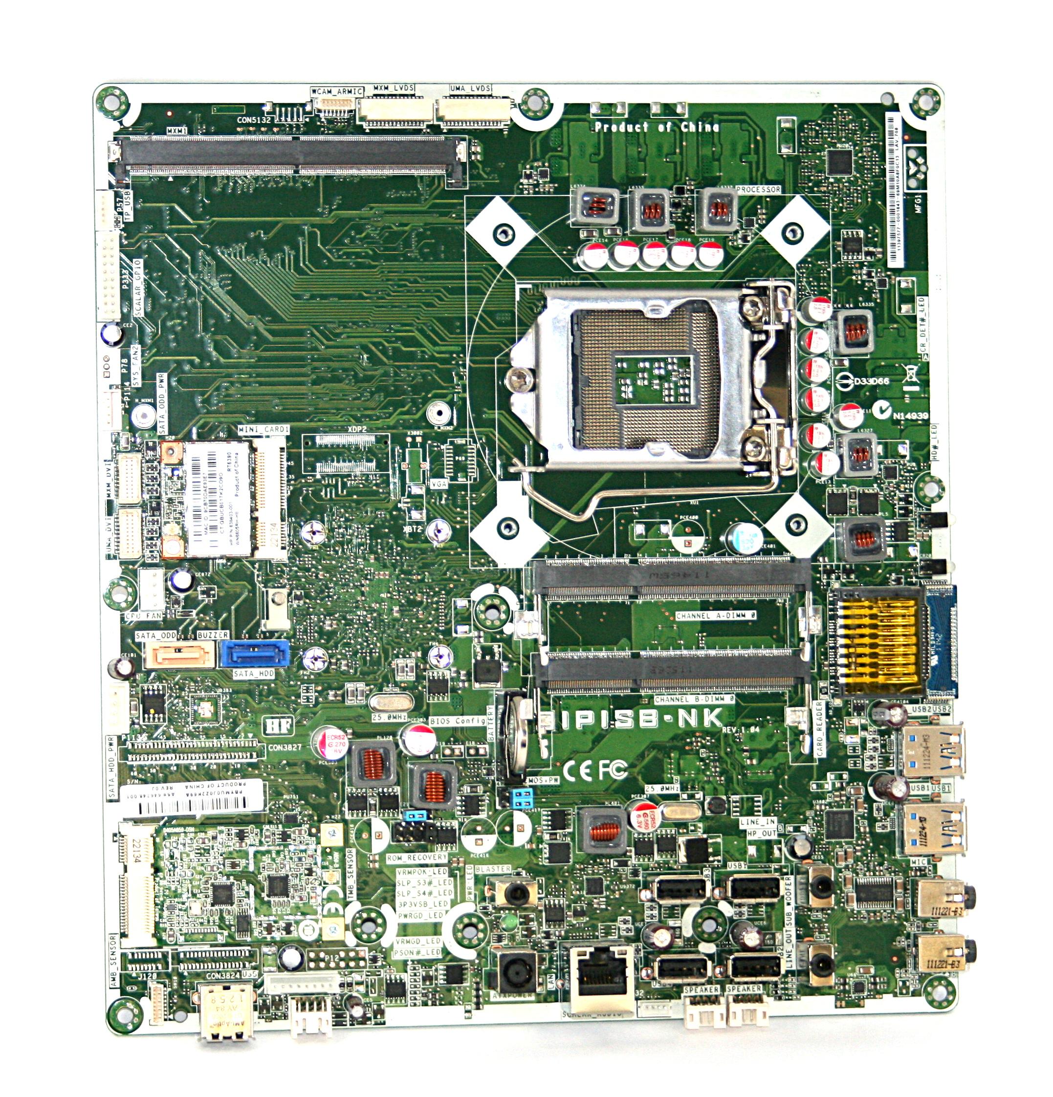 HP 646748-001 TouchSmart 520 AIO Intel IPISB-NK Motherboard