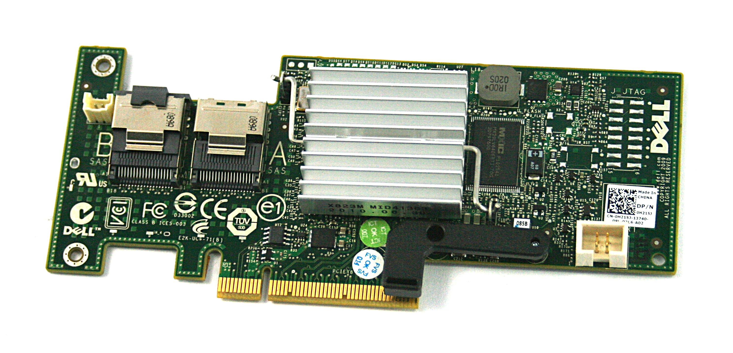Dell H215J Modular SAS/ SATA RAID Controller Card - Without Bracket