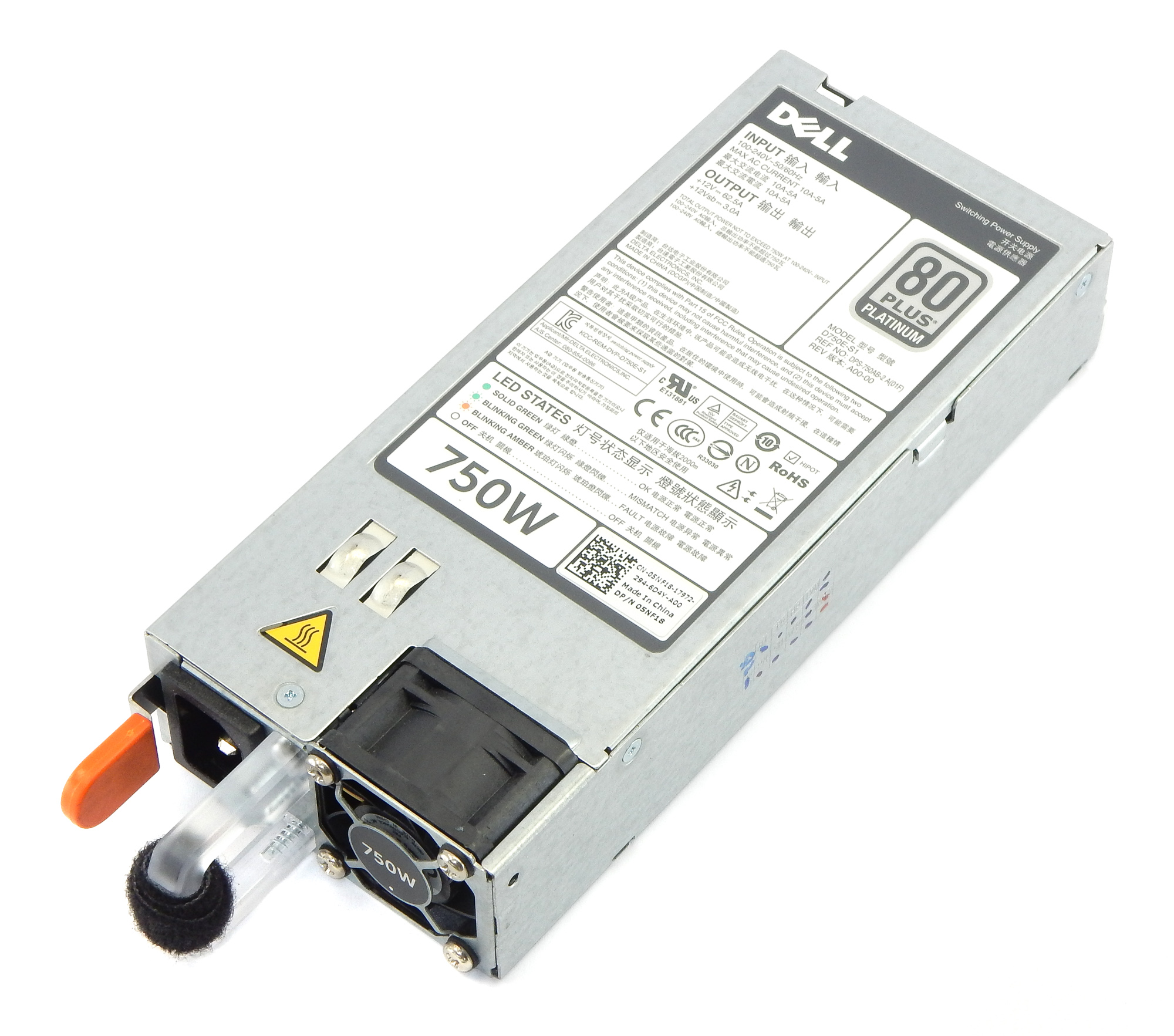 Dell 5NF18 Delta DPS-750AB-2 750W Switching Power Supply