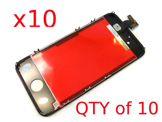 x10 For Apple iPhone 4S LCD Screen Replacement & Touch Digitizer Display - Black