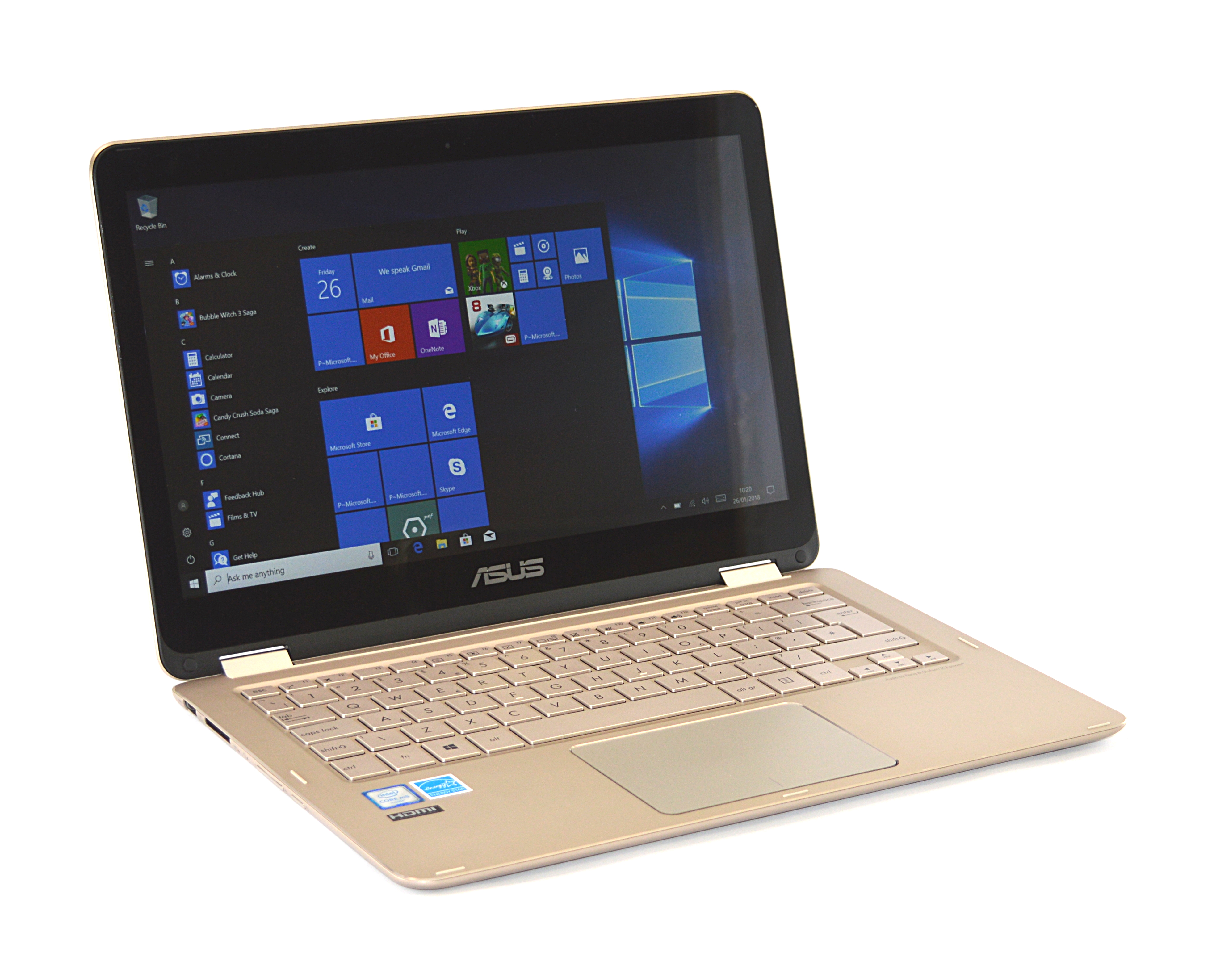 "Asus ZenBook Flip UX360C Laptop Core m5-6Y54 8GB RAM 256GB SSD 13.3"" Win 10"
