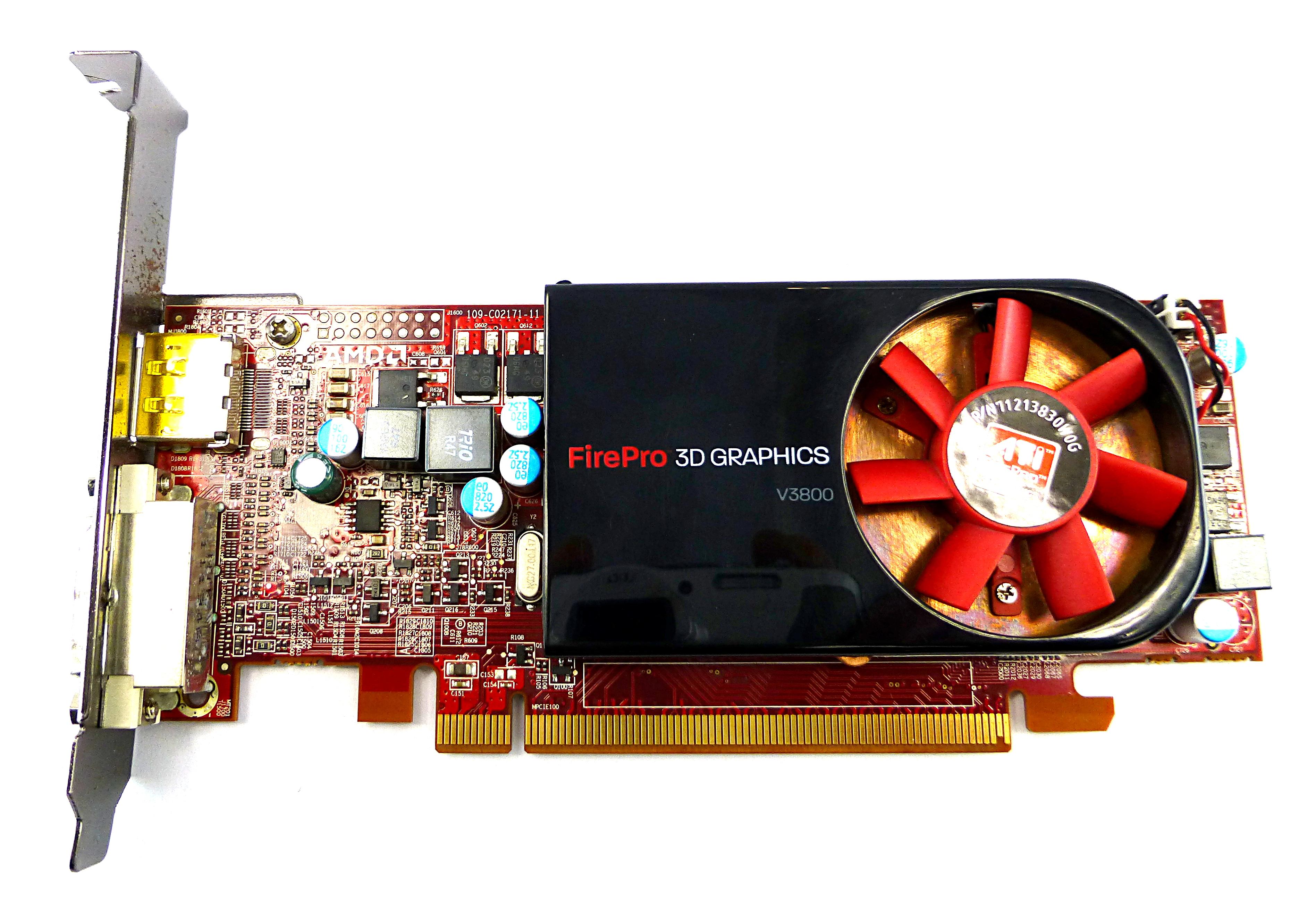 HP 608886-001 ATi FirePro V3800 512Mb 3D Graphics Card DVi DP PCi-e