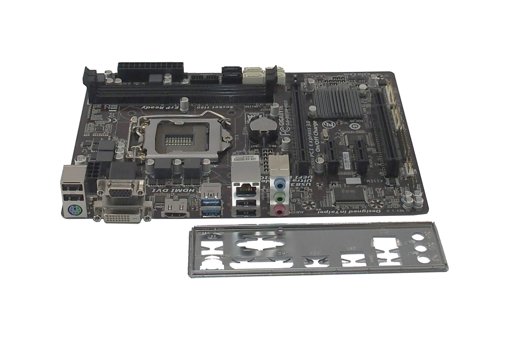 Gigabyte GA-B85M-HD3 Rev:1.0 UEFI Dual BIOS Socket 1150 Motherboard