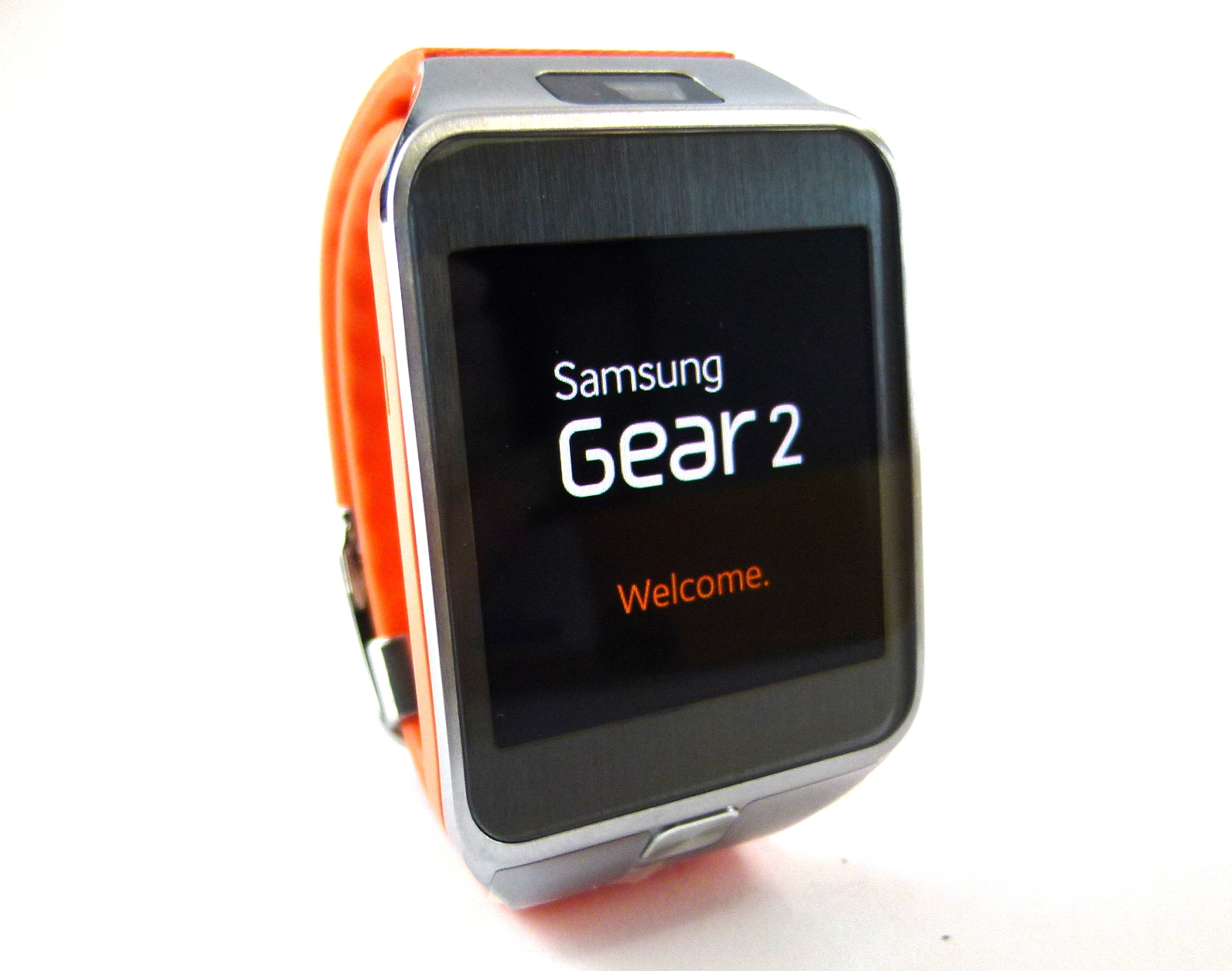 samsung sm r380 gear 2 smart watch in wild orange 700697061116 ebay. Black Bedroom Furniture Sets. Home Design Ideas