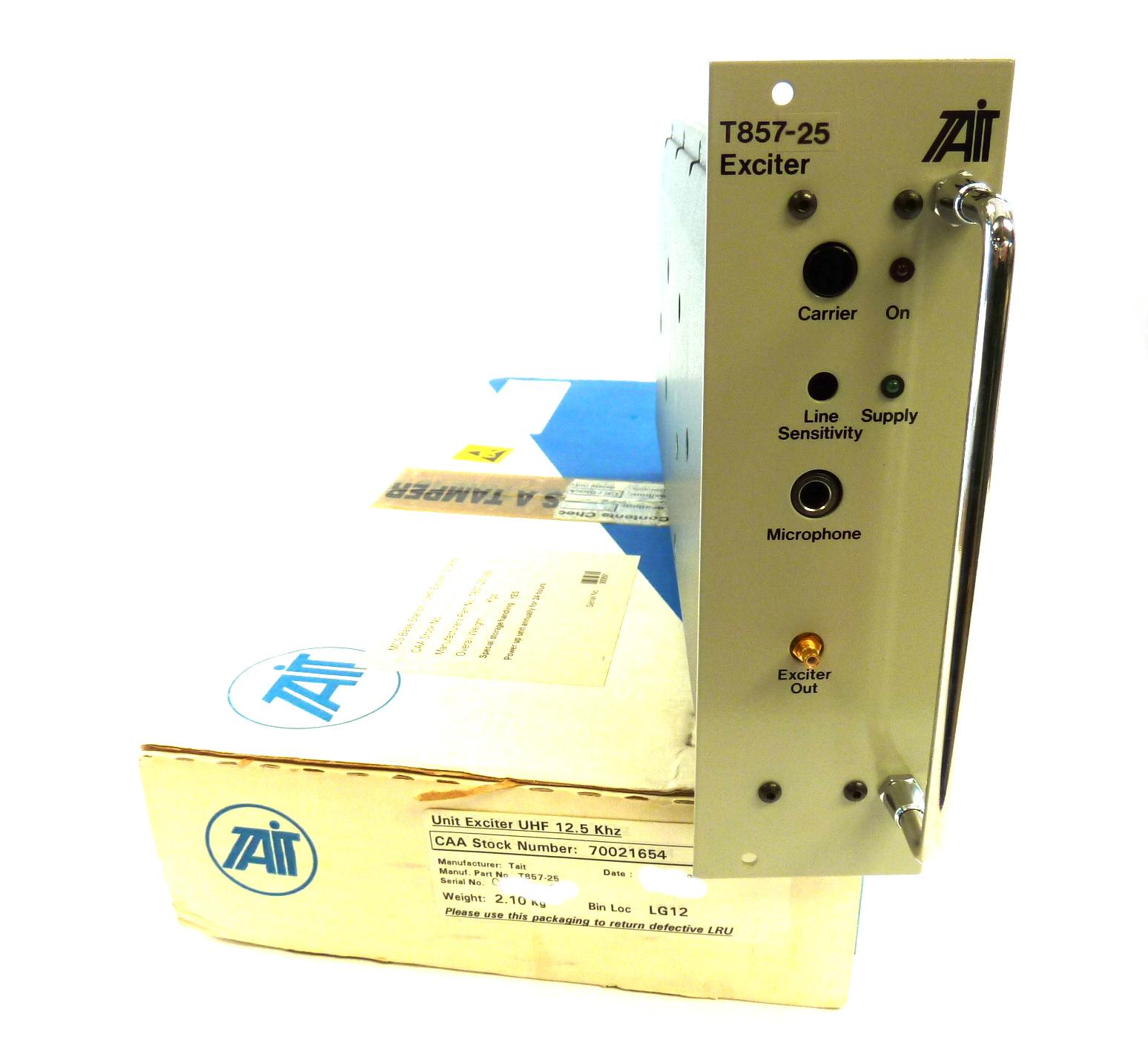 Tait T857-25 Modular Aerospace Radio Repeater Exciter UHF 12 5KHz  (Unprogrammed)