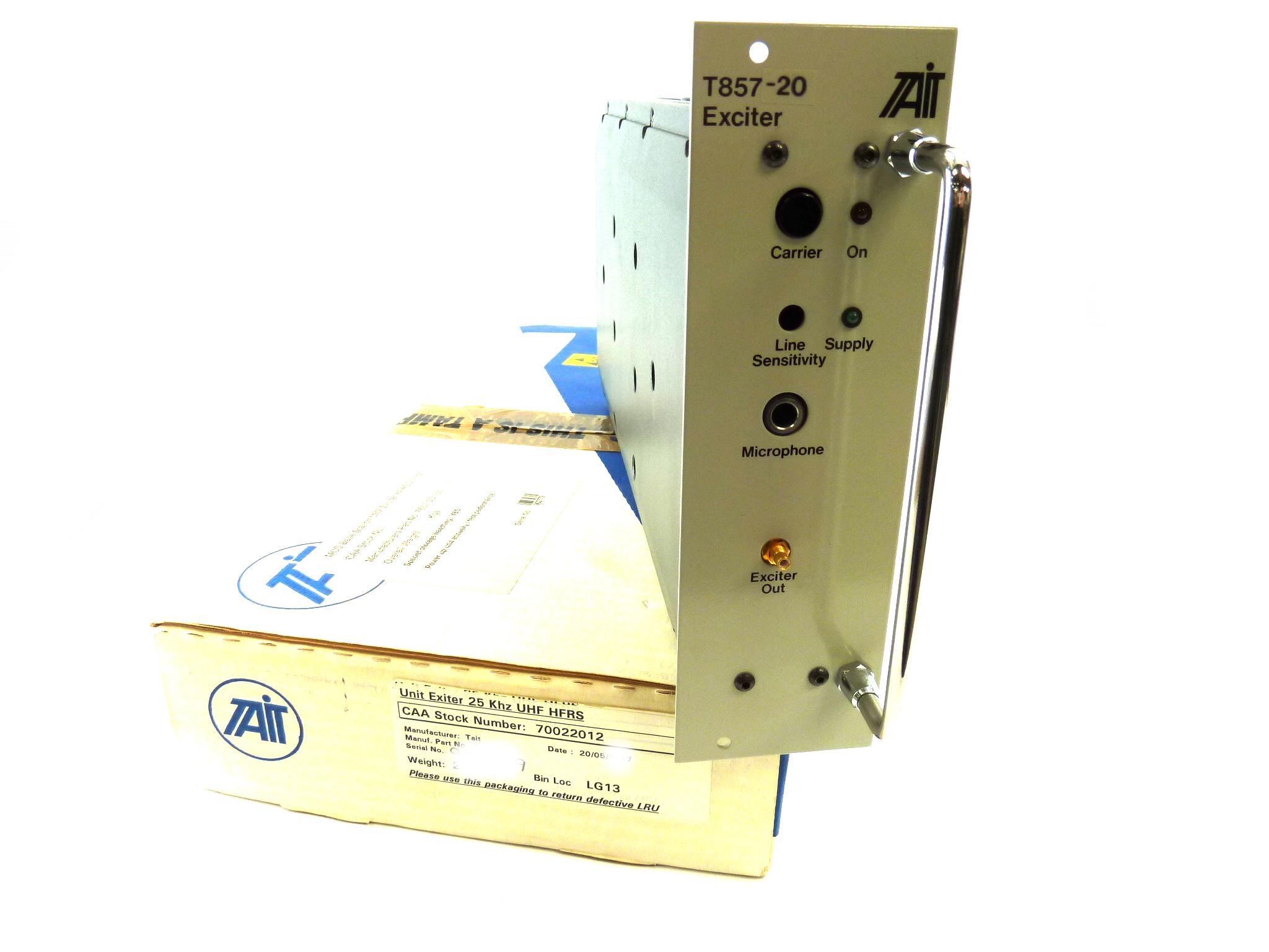 Tait T857-20 MODULAR Aerospace Radio Repeater Exciter UHF 25KHz  (Unprogrammed)