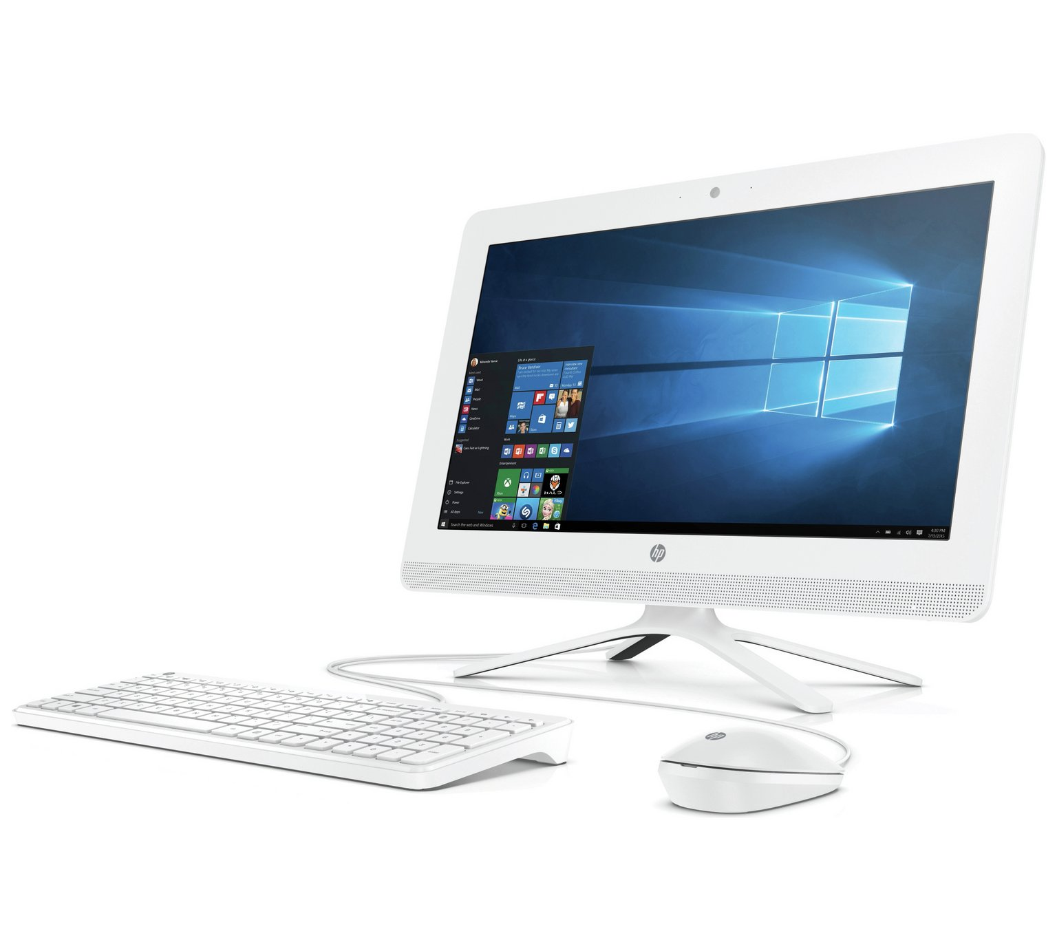 HP Celeron 21.5 Inch Intel Celeron dual core j3060 4GB 1TB All-in-One PC - White