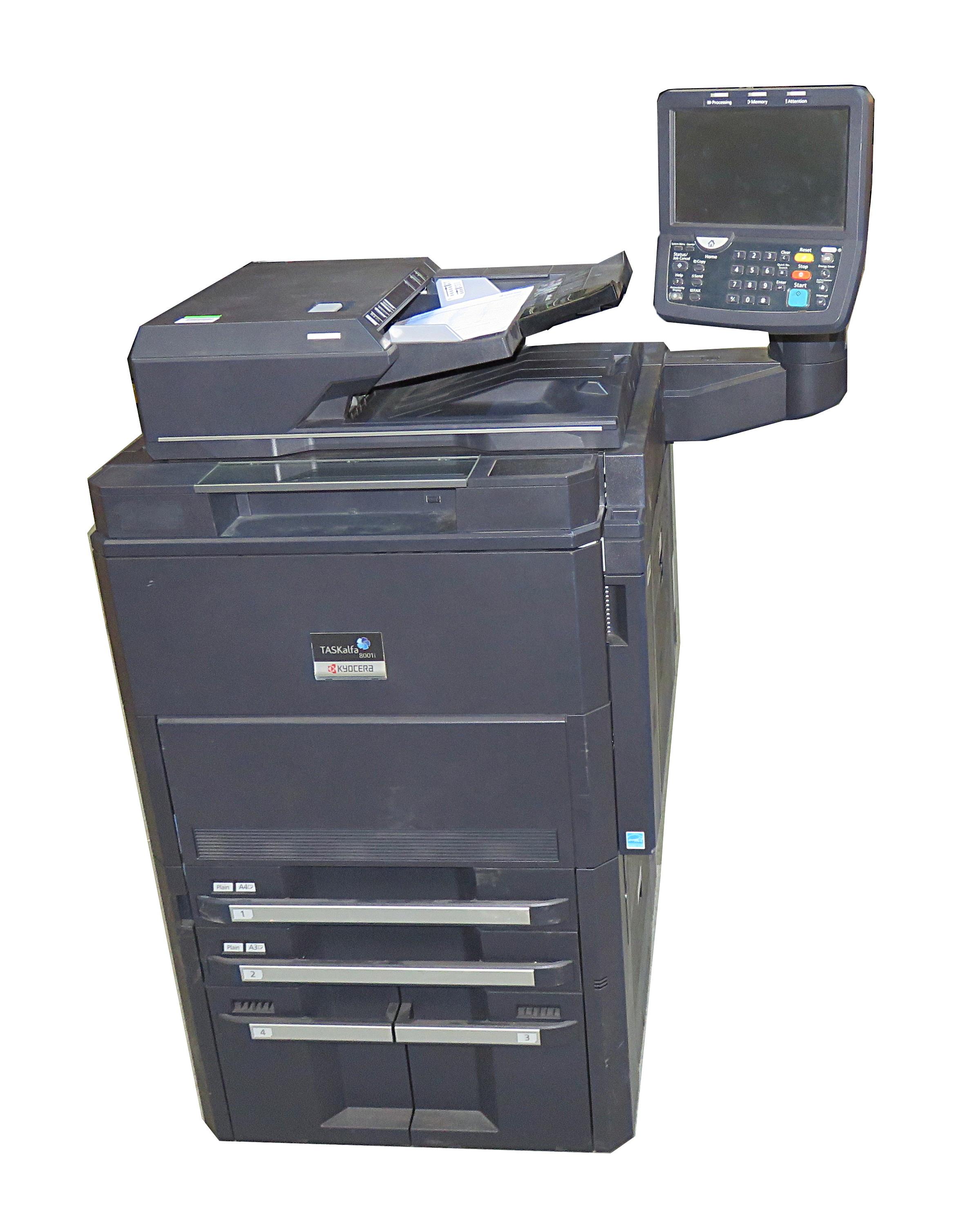 Kyocera TaskALFA 8001i Network Multifunction Copier/Scanner/Printer  L8V3Y00196
