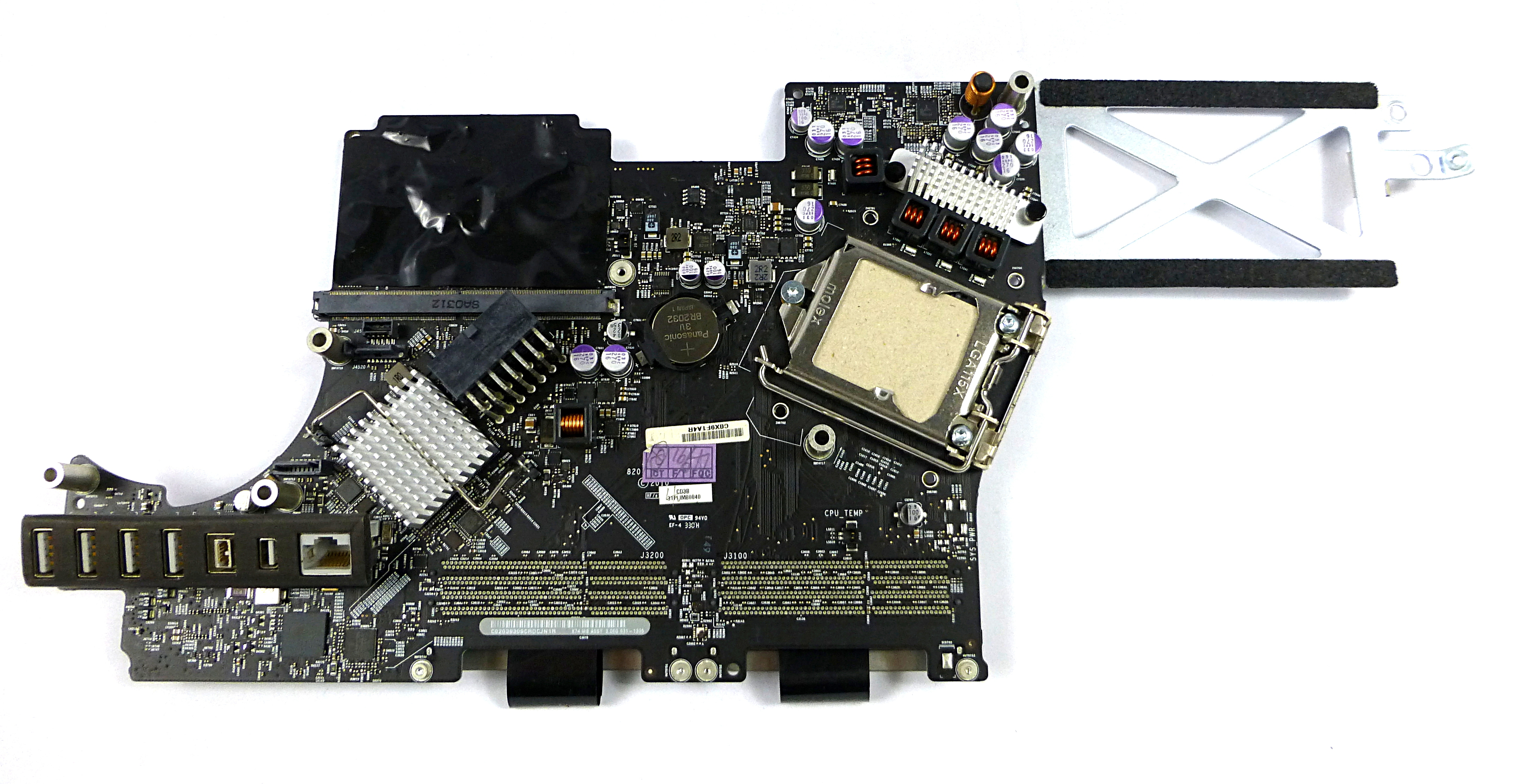 "820-2784-A Apple 21"" iMac Mid-2010 Logic Board A1311 631-1335"