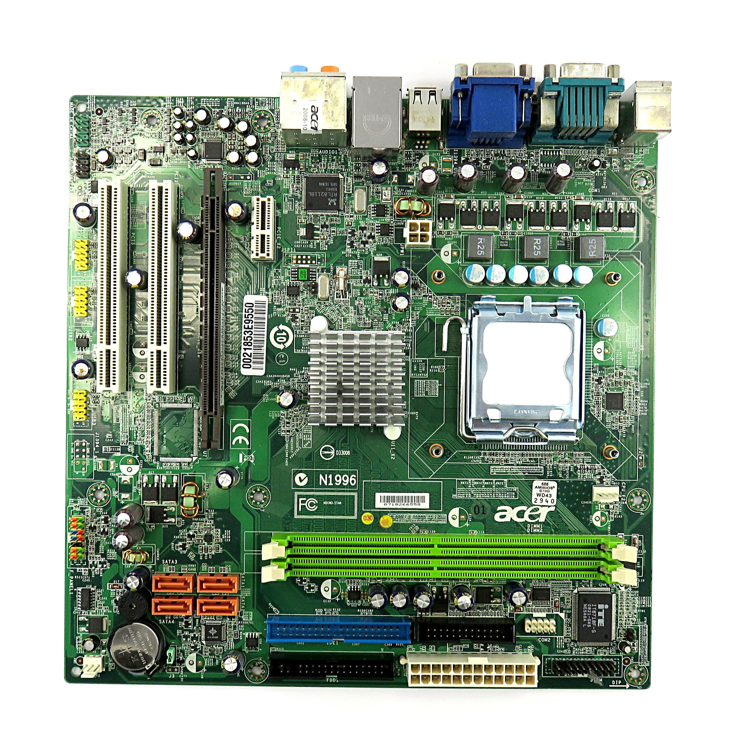 Acer Mb Sam09 005 Veriton M464 Socket Lga775 Pc