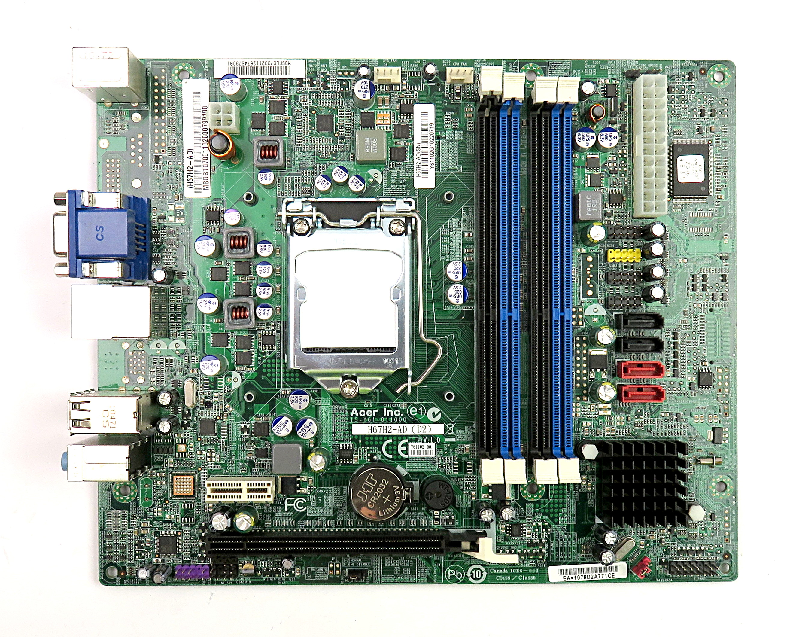 Acer H67H2-AD Intel Socket LGA1155 MB.SFL07.003 - Packard Bell BIOS