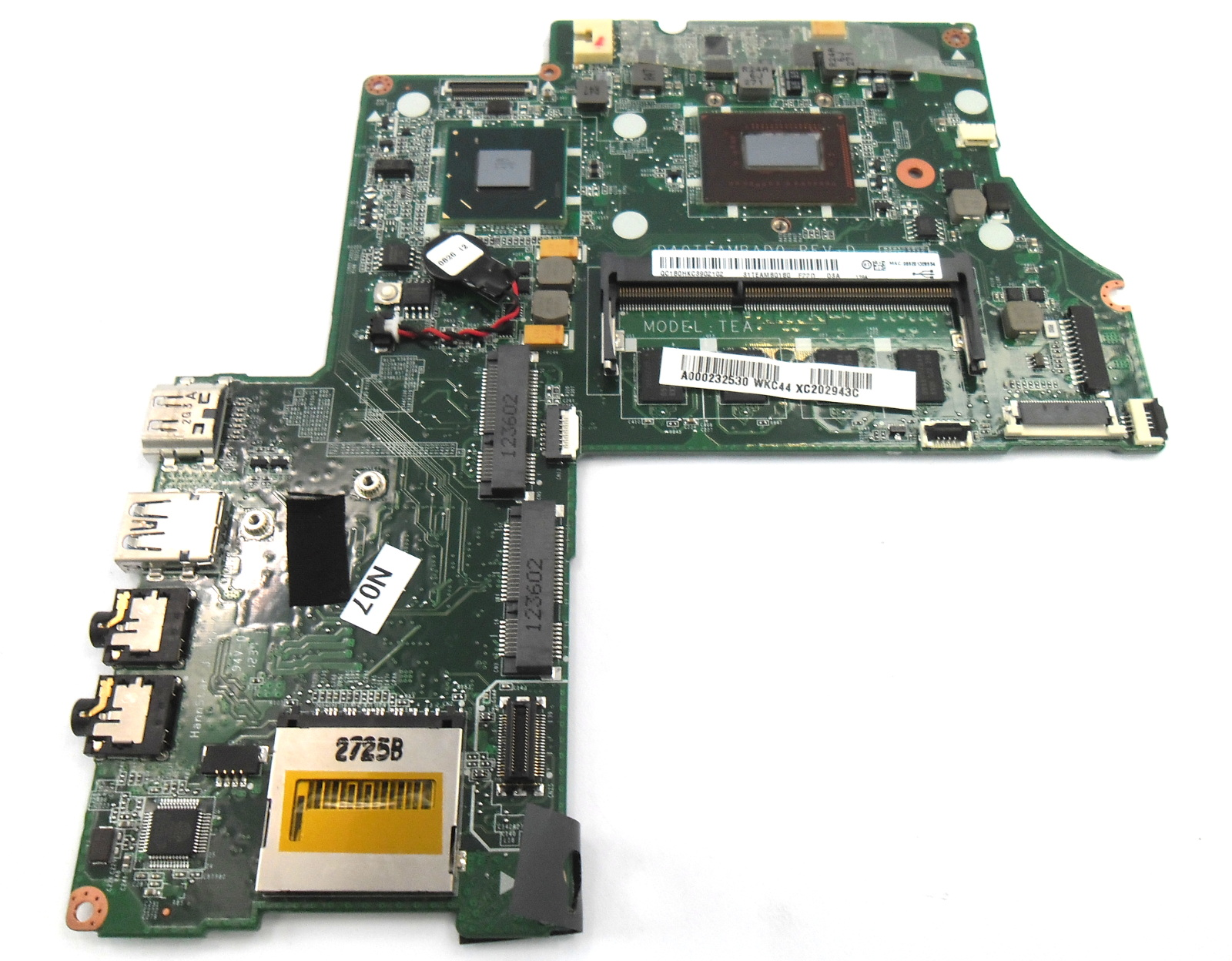 Toshiba Satellite U840W U845W Laptop Motherboard A000232530 /w i5-3317U CPU
