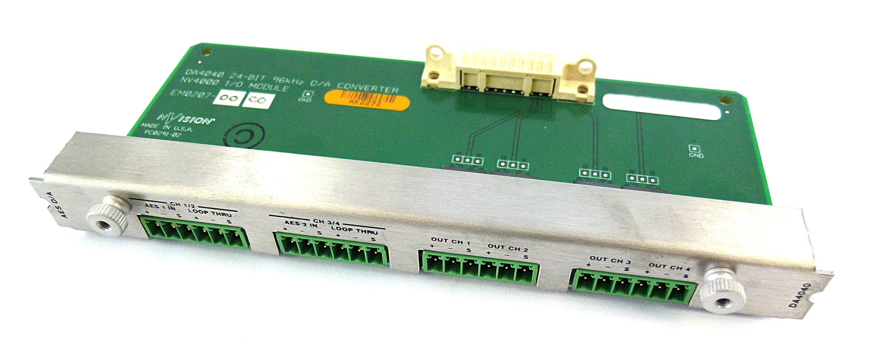 NVision DA4040 D/A Converter 24-Bit 96khz  NV4000 I/O Module EM0207-00 C0