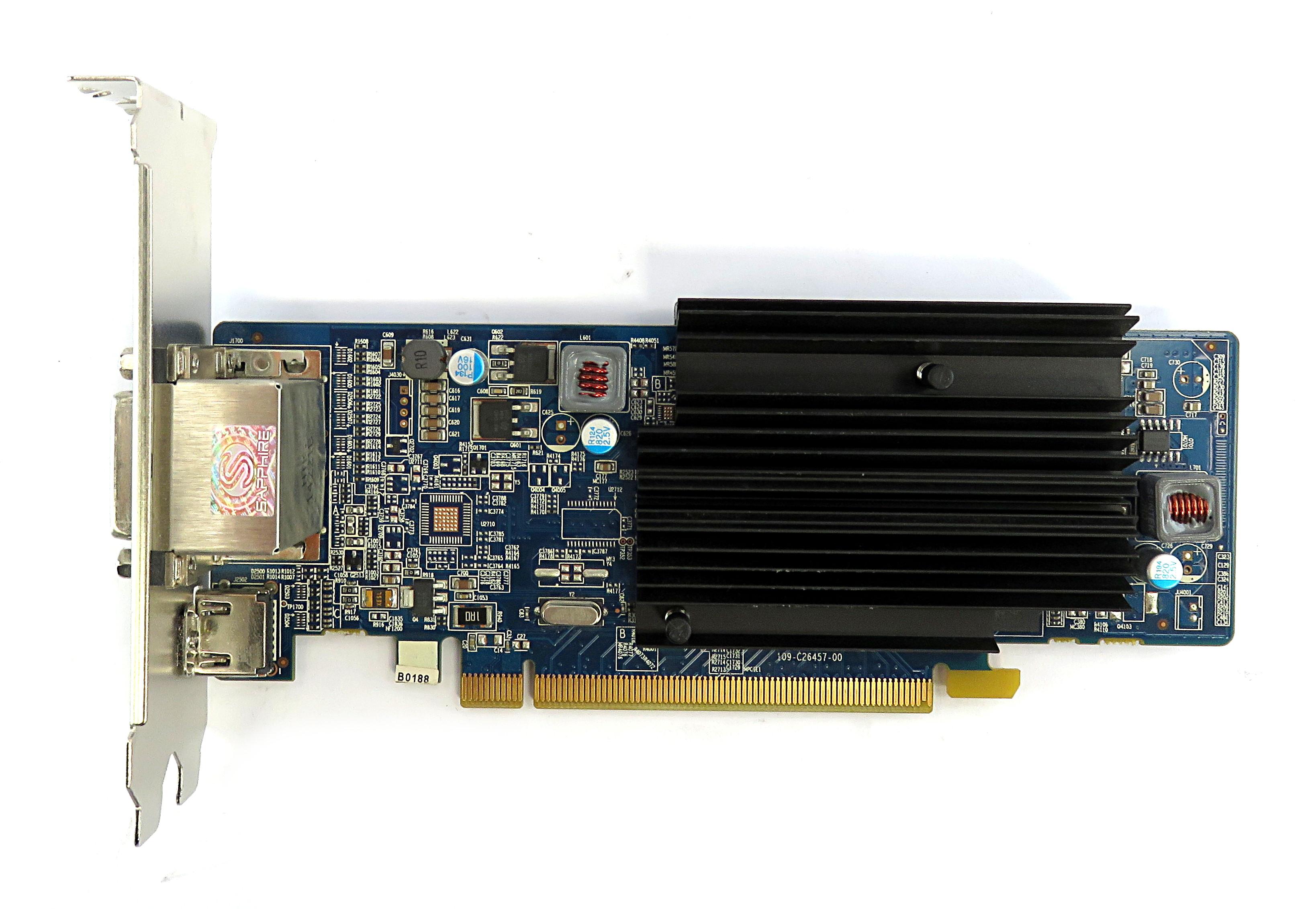 Sapphire AMD Radeon HD6450 1GB Silent Graphics Card 299-1E206-202SA HDMI/2xDVI