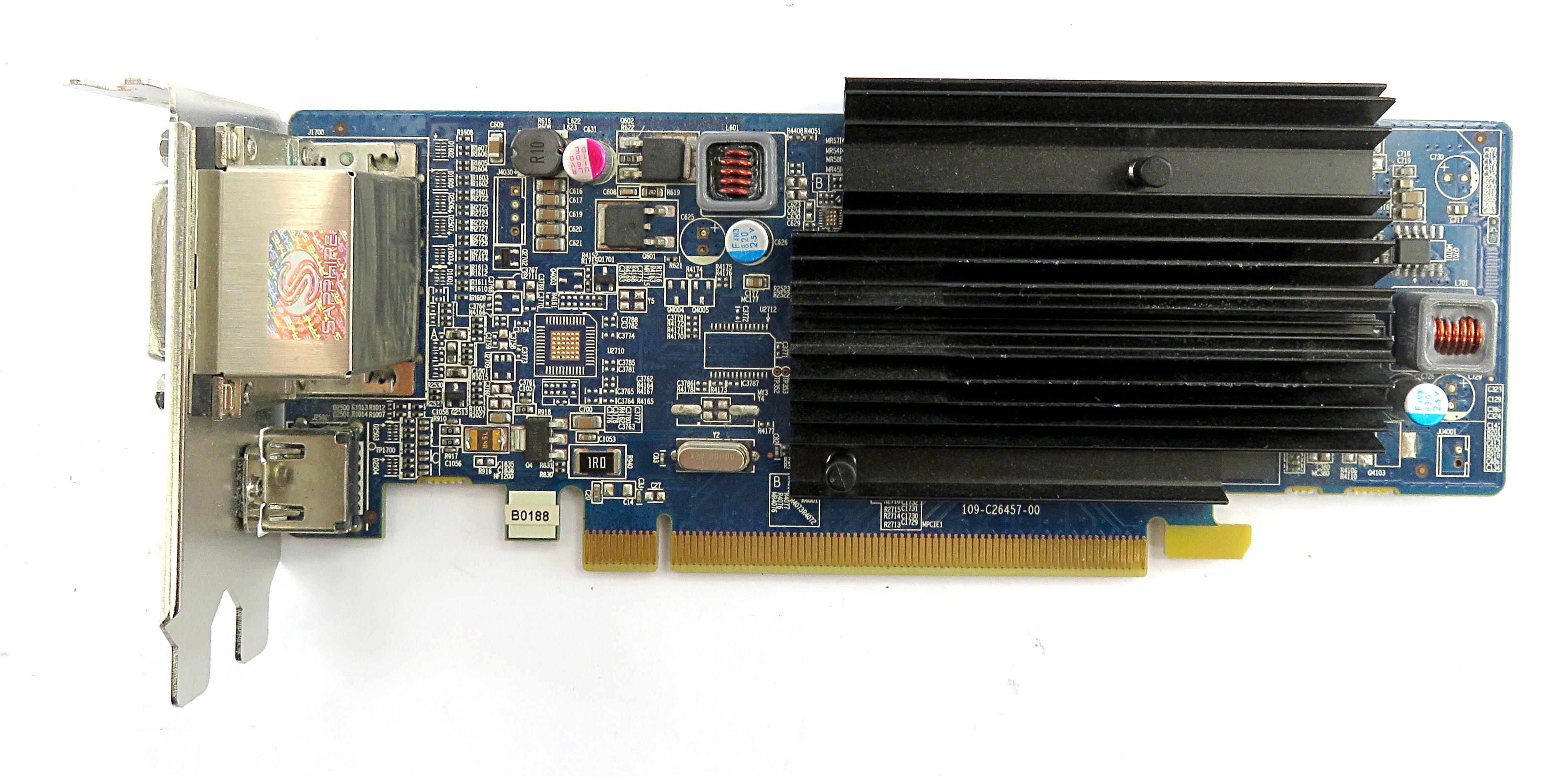 Sapphire AMD Radeon HD6450 1GB LP Silent Video Card 299-1E206-202SA HDMI/2xDVI