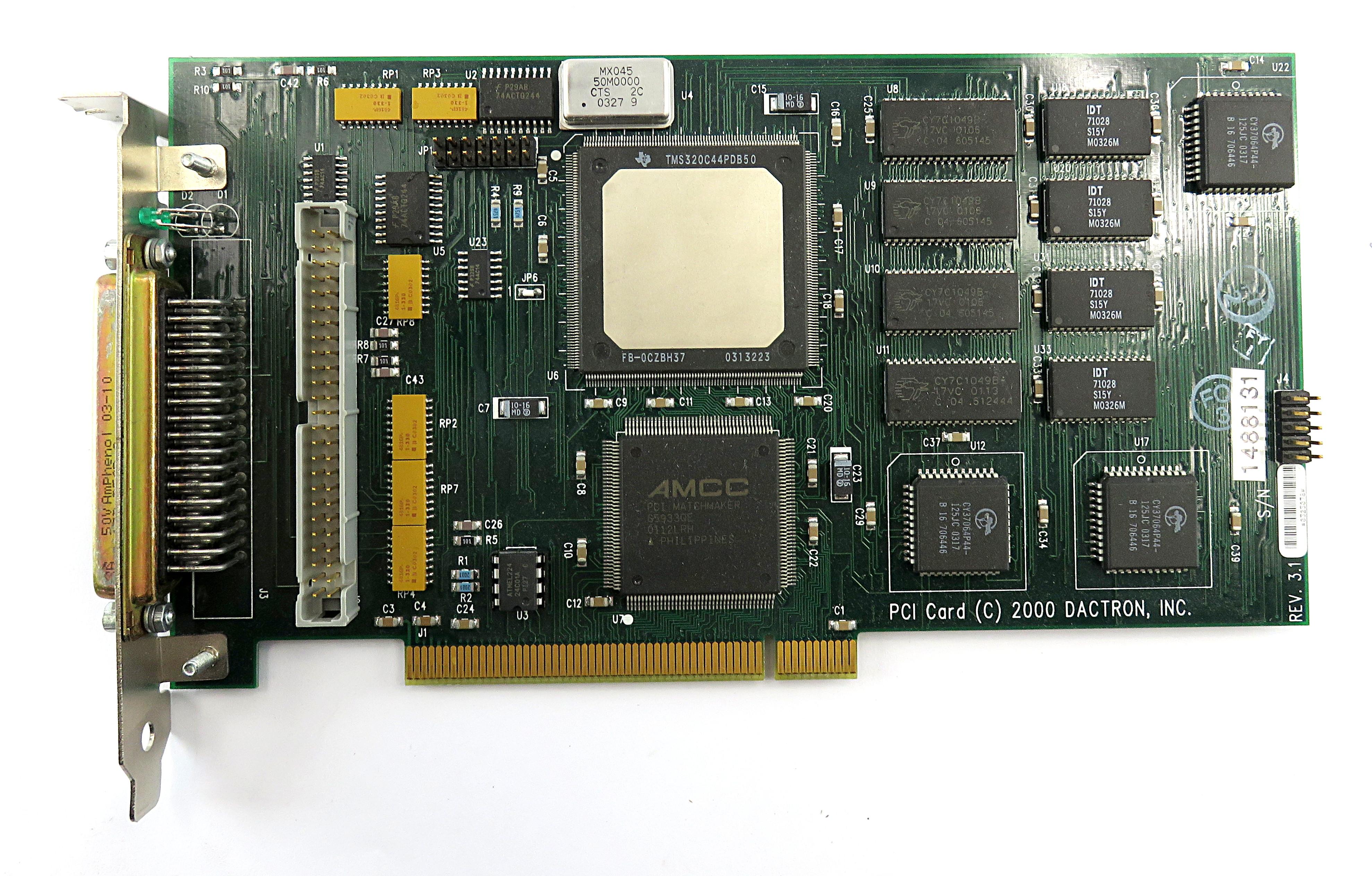 Dactron PCI Card 2000 REV.3.1 Interface Card