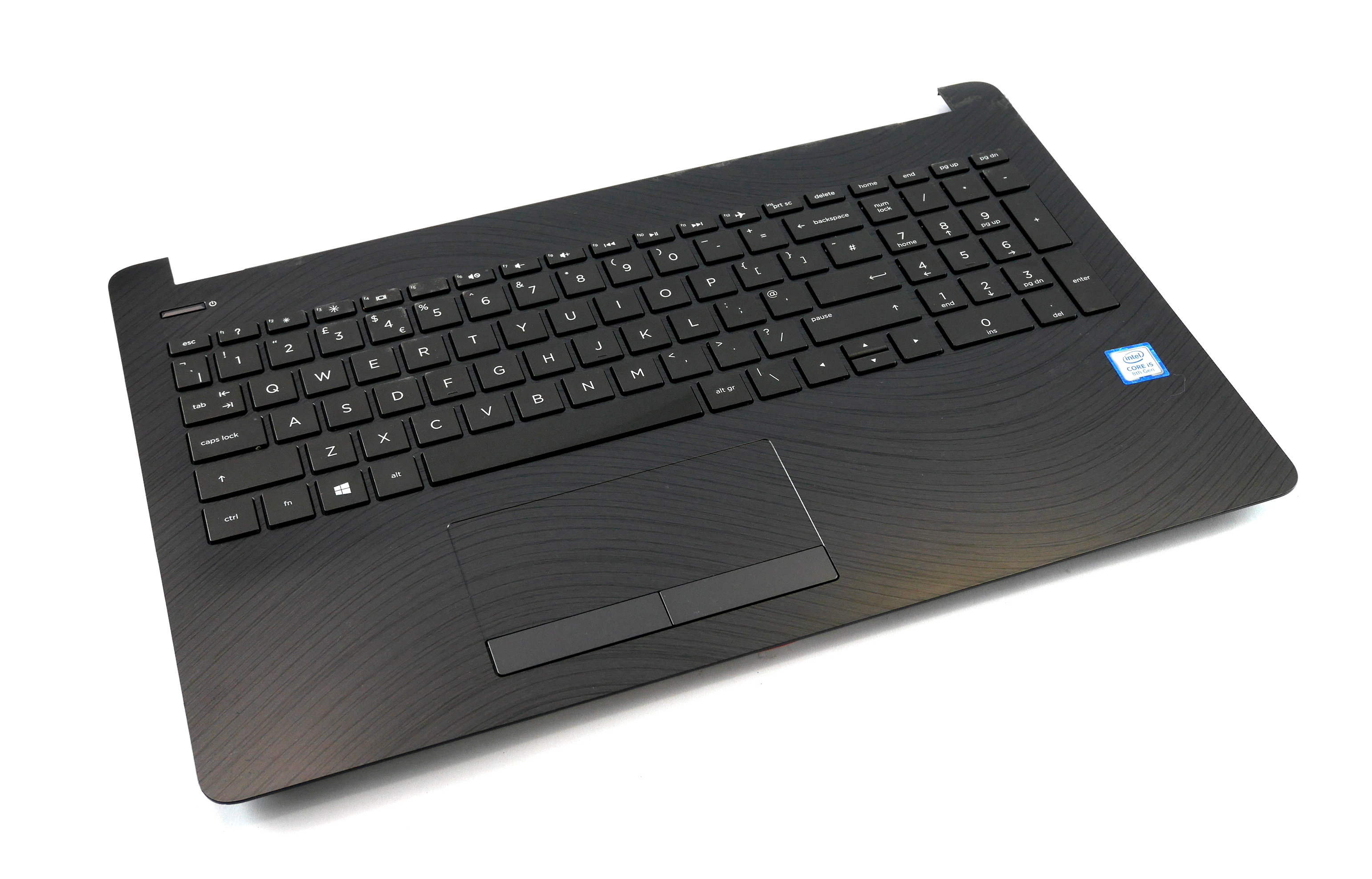 AP204000610 HP 15-bs158sa UK Keyboard, Palmrest w/ Touchpad Assembly PK132043E09