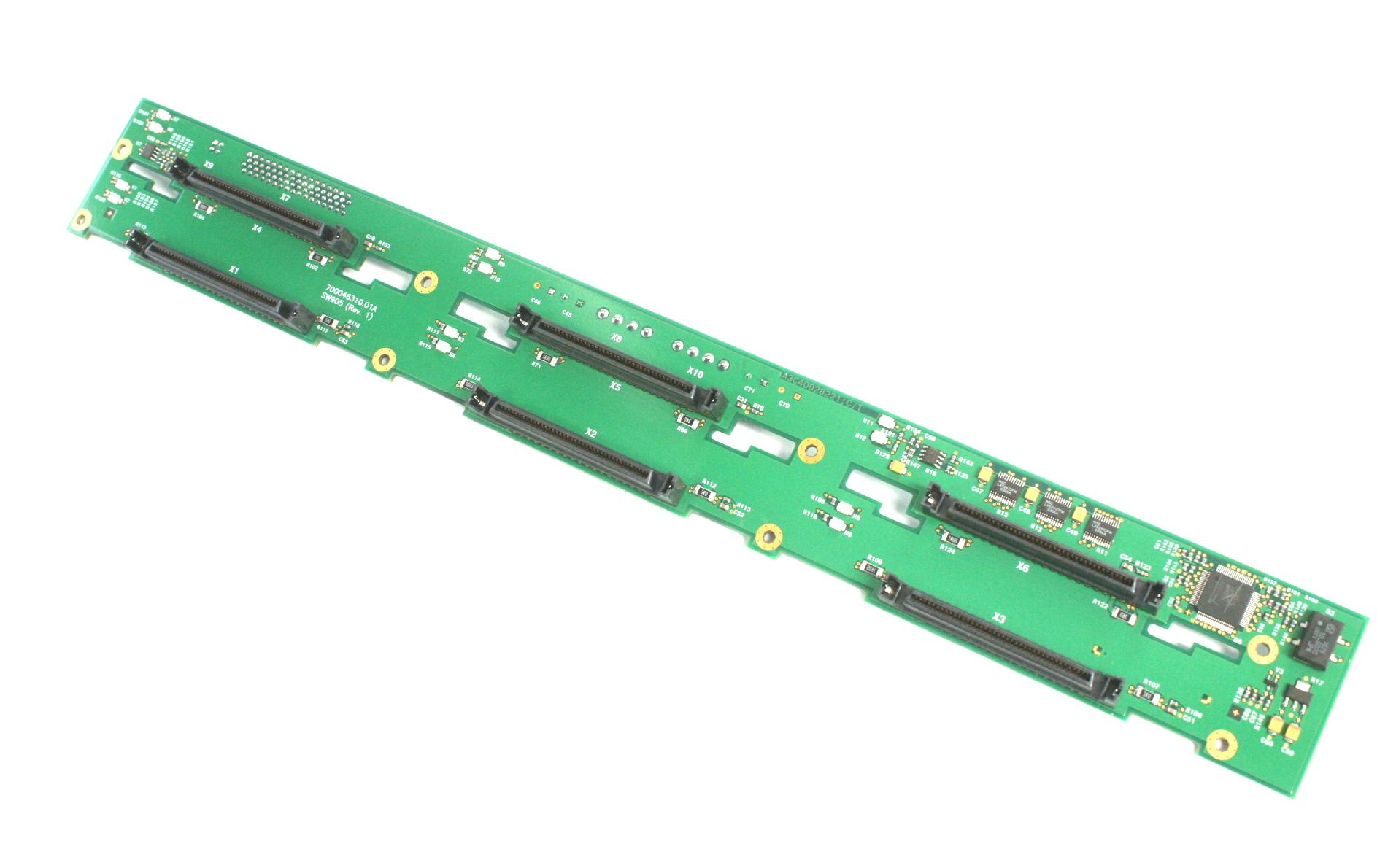 Fujitsu A3C40030650 SCSI Back-Plane 1X6 Kit - PCB P/N A3C40028222