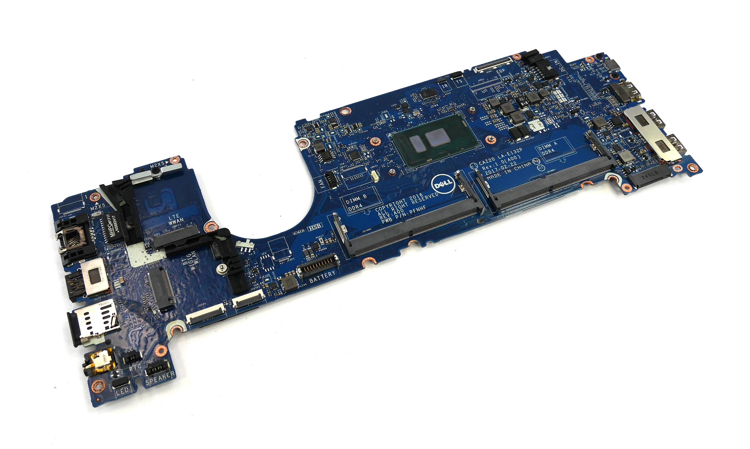 Dell MP2YX Latitude 7480 Motherboard with BGA Intel Core i5-6300U Processor
