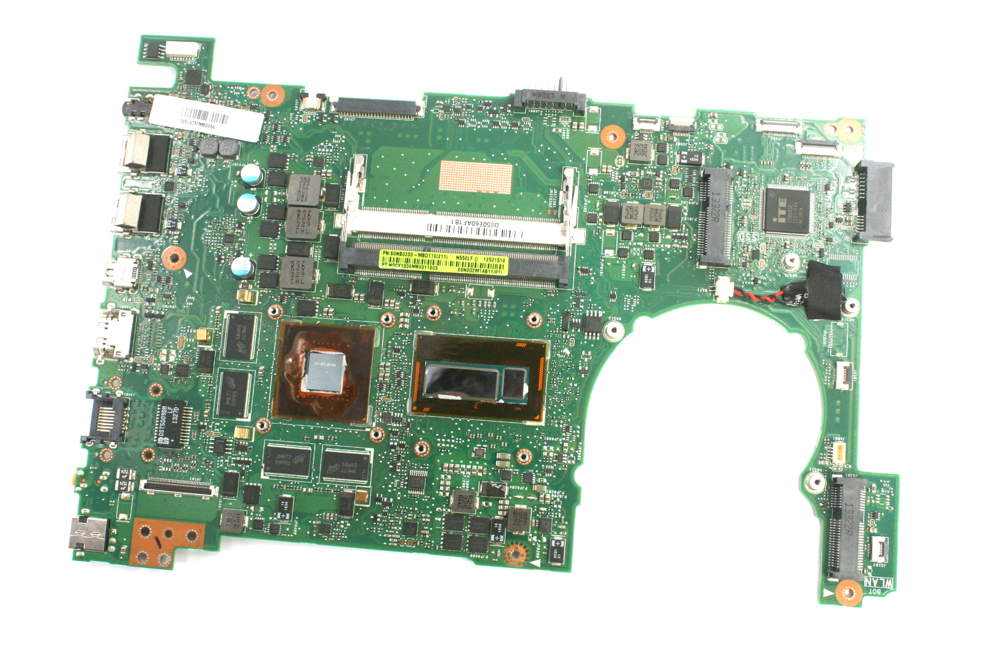 Asus 60NB0230-MBD110 Notebook Motherboard /w Intel i5-4200U(SR170) CPU