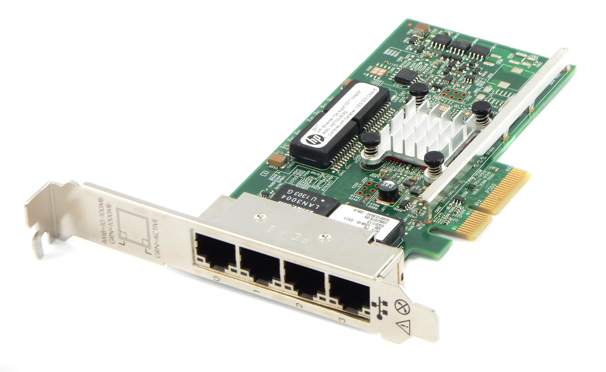 HP 649871-001 PCI-e 4-Port Gigabit Ethernet Network Adapter - 647592-001