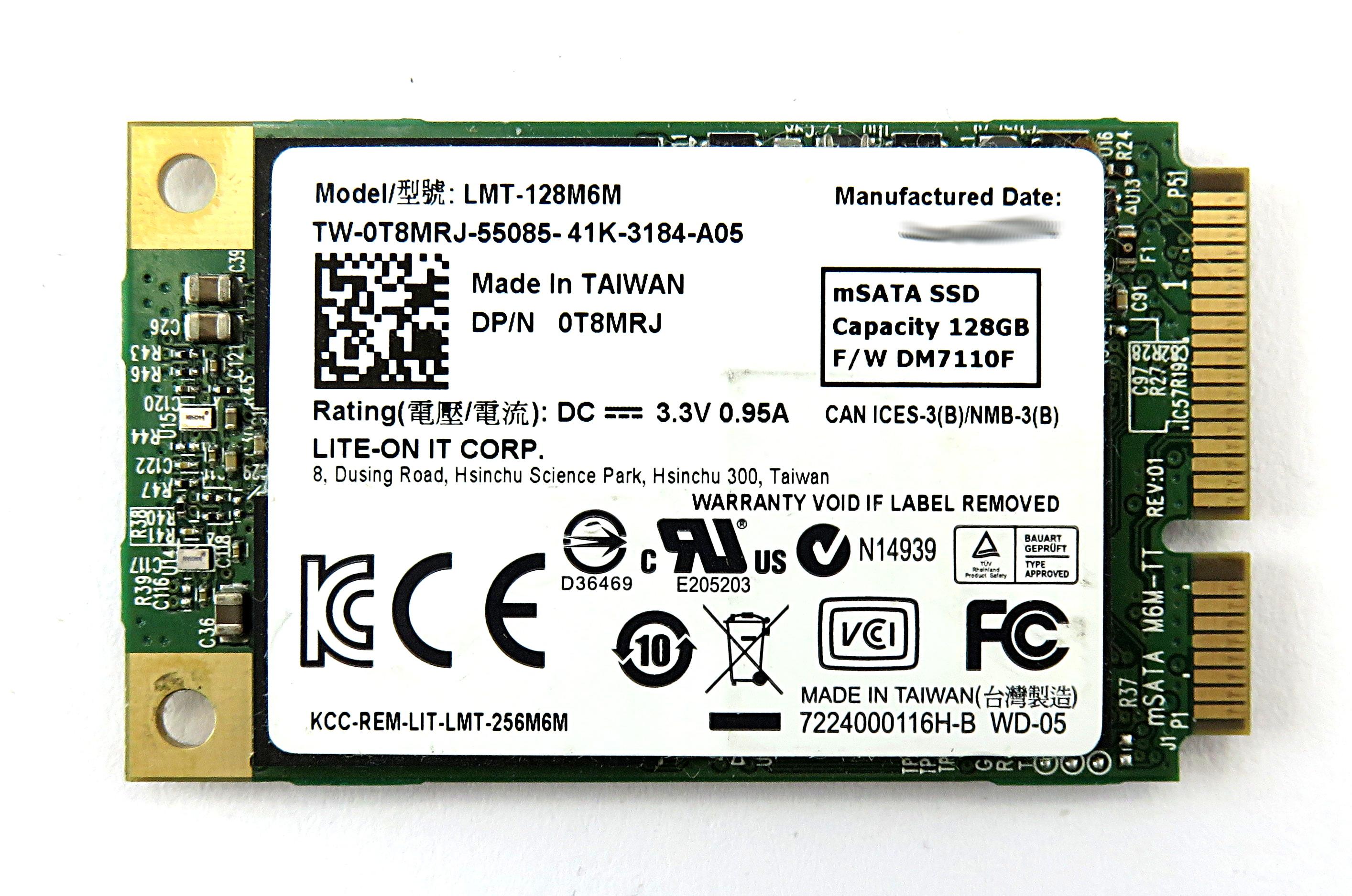 Dell T8MRJ Lite-On LMT-128M6M 128GB mSATA SSD