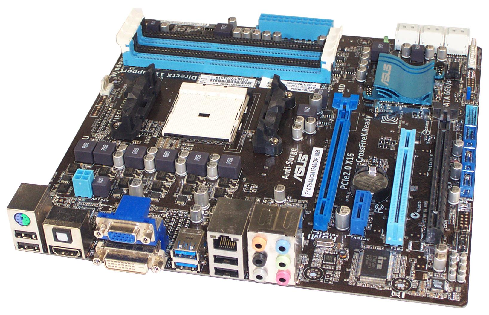 ASUS F1A75-M/CM1740/DP_MB Socket FM1 AMD mATX Motherboard