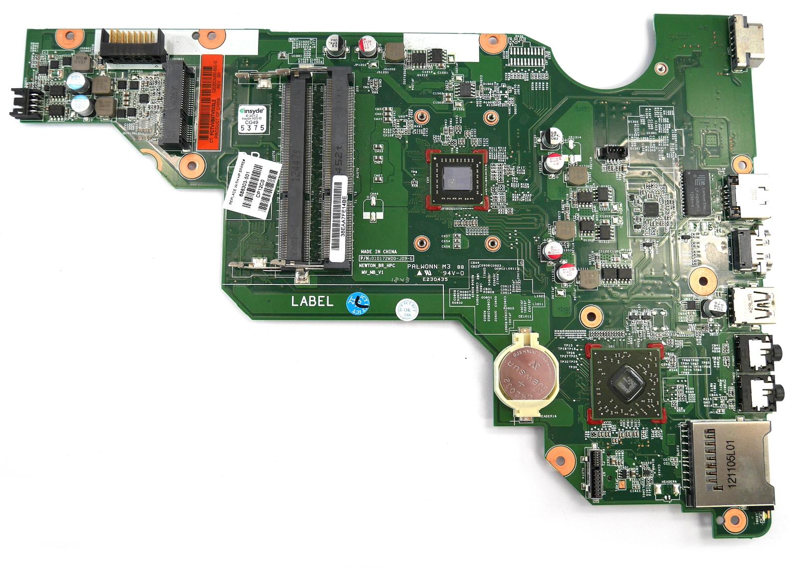 HP Compaq CQ58 688303-501 Motherboard with BGA AMD E1-Series E1-1200