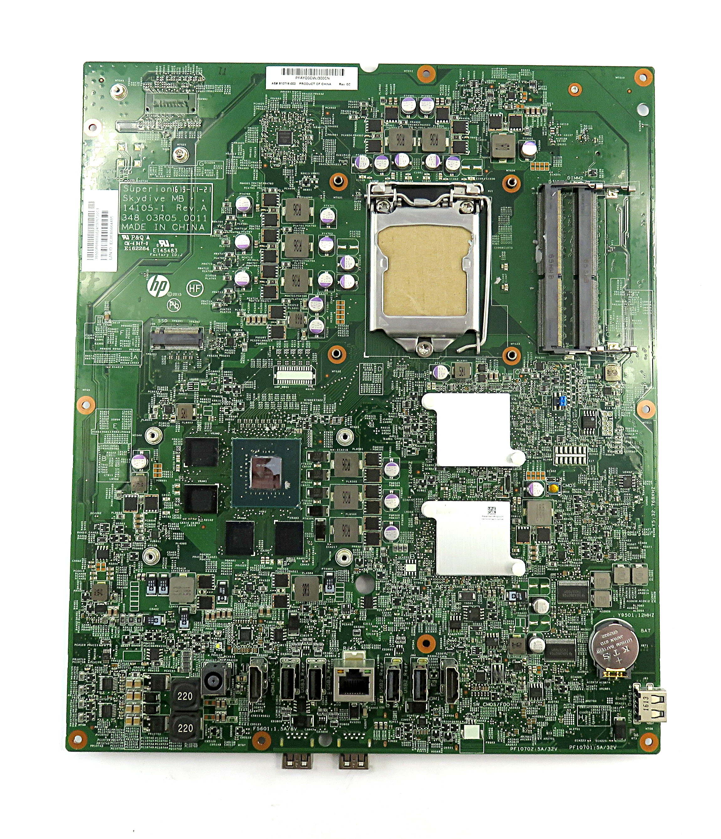 HP 810716-002 Socket LGA1151 Superion Skydive Mainboard f/ Envy Curved 34-a090